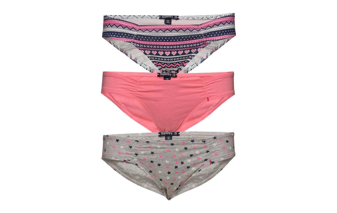 Fairisle 6 Brief 94 Équipement Coton Elastane Triple Super Pink Superdry Stndrd Pack Star ExP0A6qw