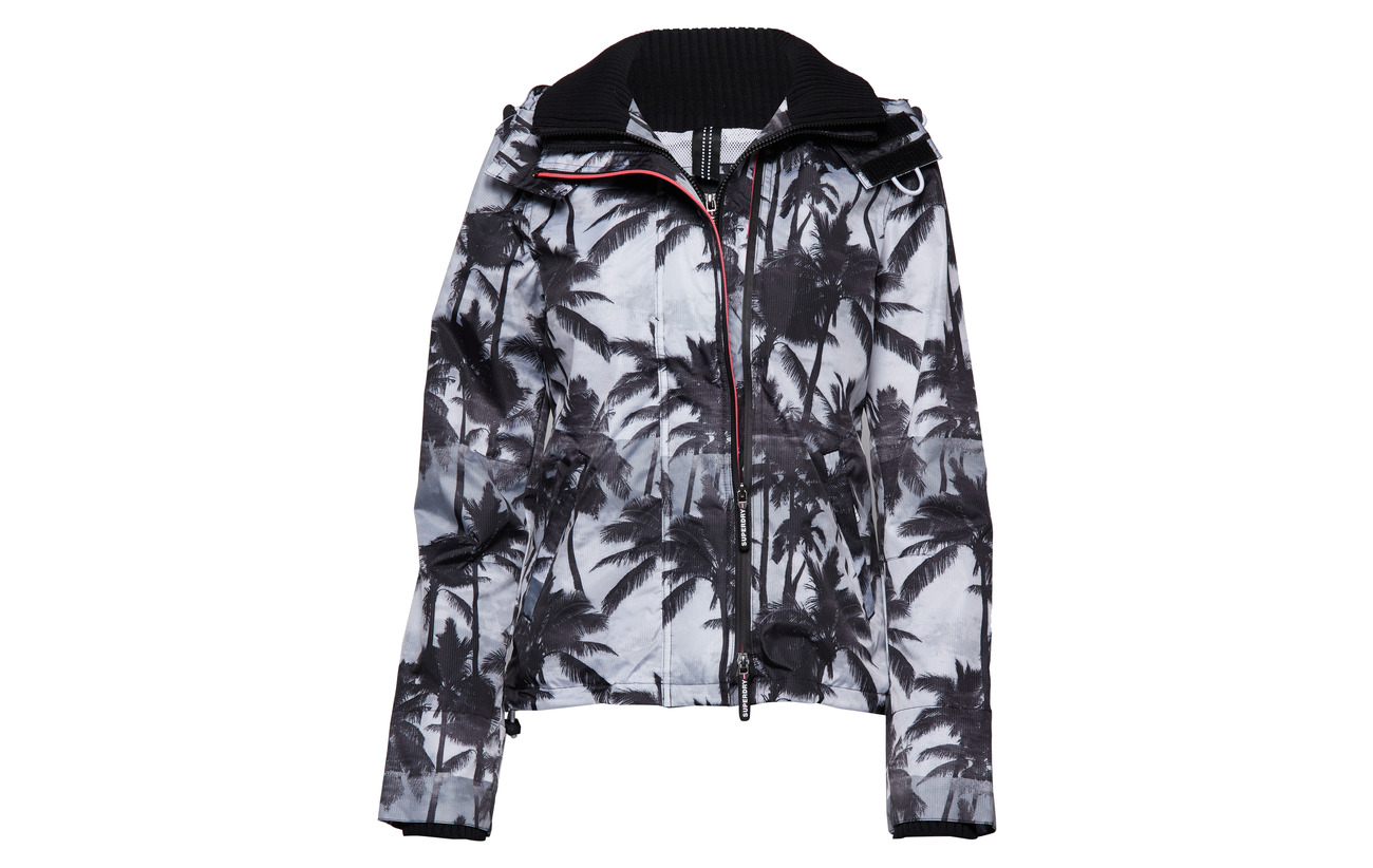 100 Windcheater Superdry black Black neon Pink Mono Polyester Palm Edition Équipement qzErwz