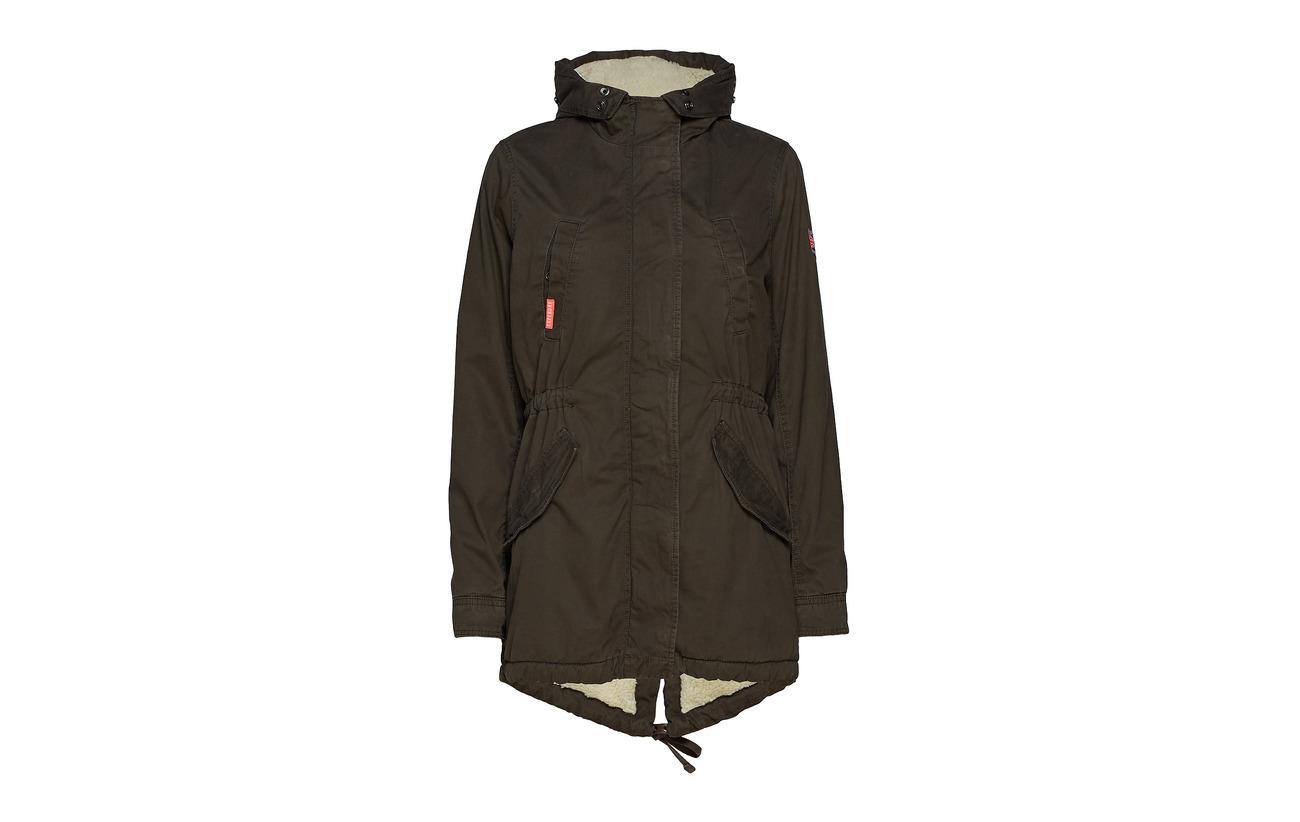 Fishtail 100 Parka Rookie Vintage Olive Superdry Heavy Équipement Coton Weather C6qwvnPx1