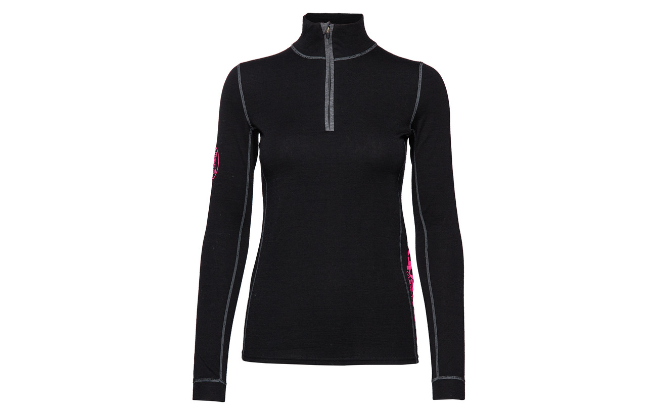 Zip Layer Top Black 100 Base Polyester Merino Superdry Half Équipement IUwTZqU