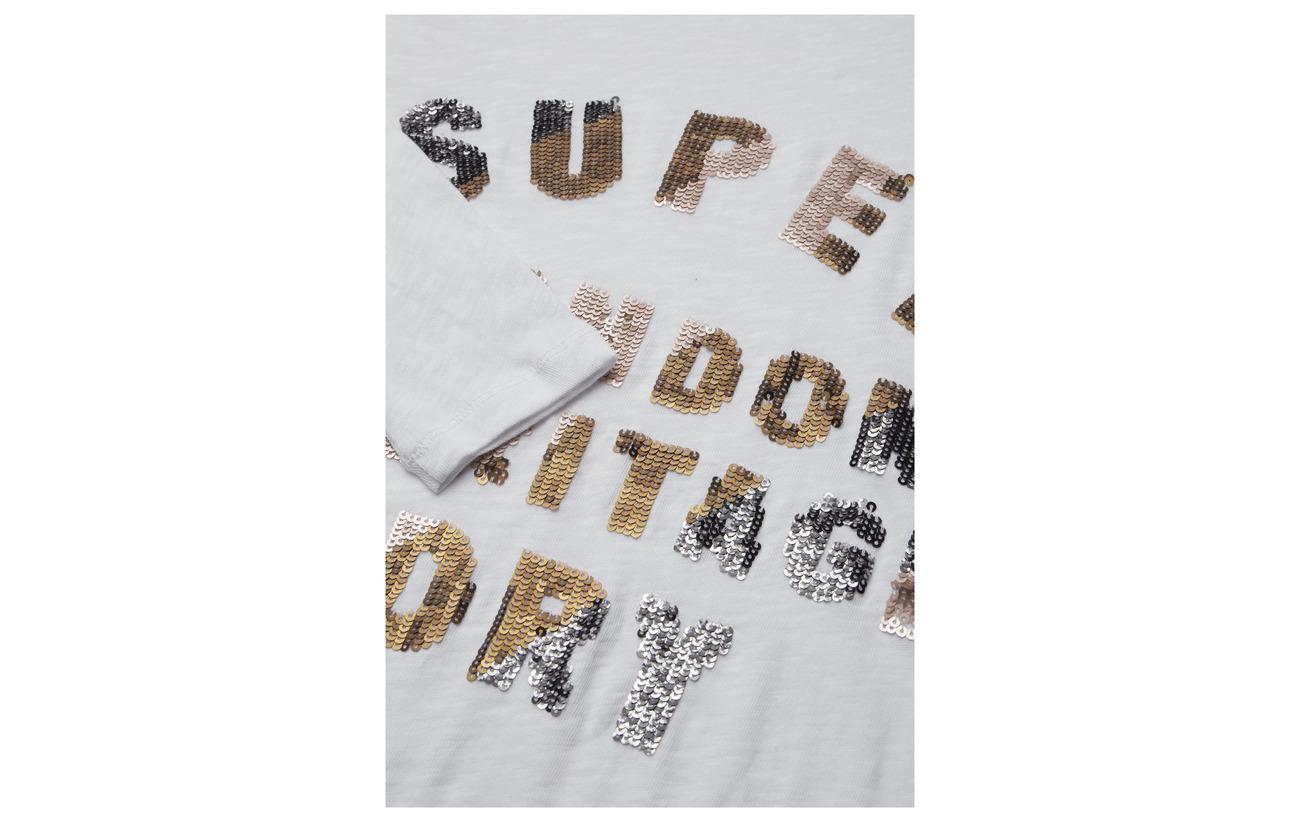 Top Équipement Charcoal Superdry 100 Marl Coton Sequin Deep Aisha qI7qYwHE