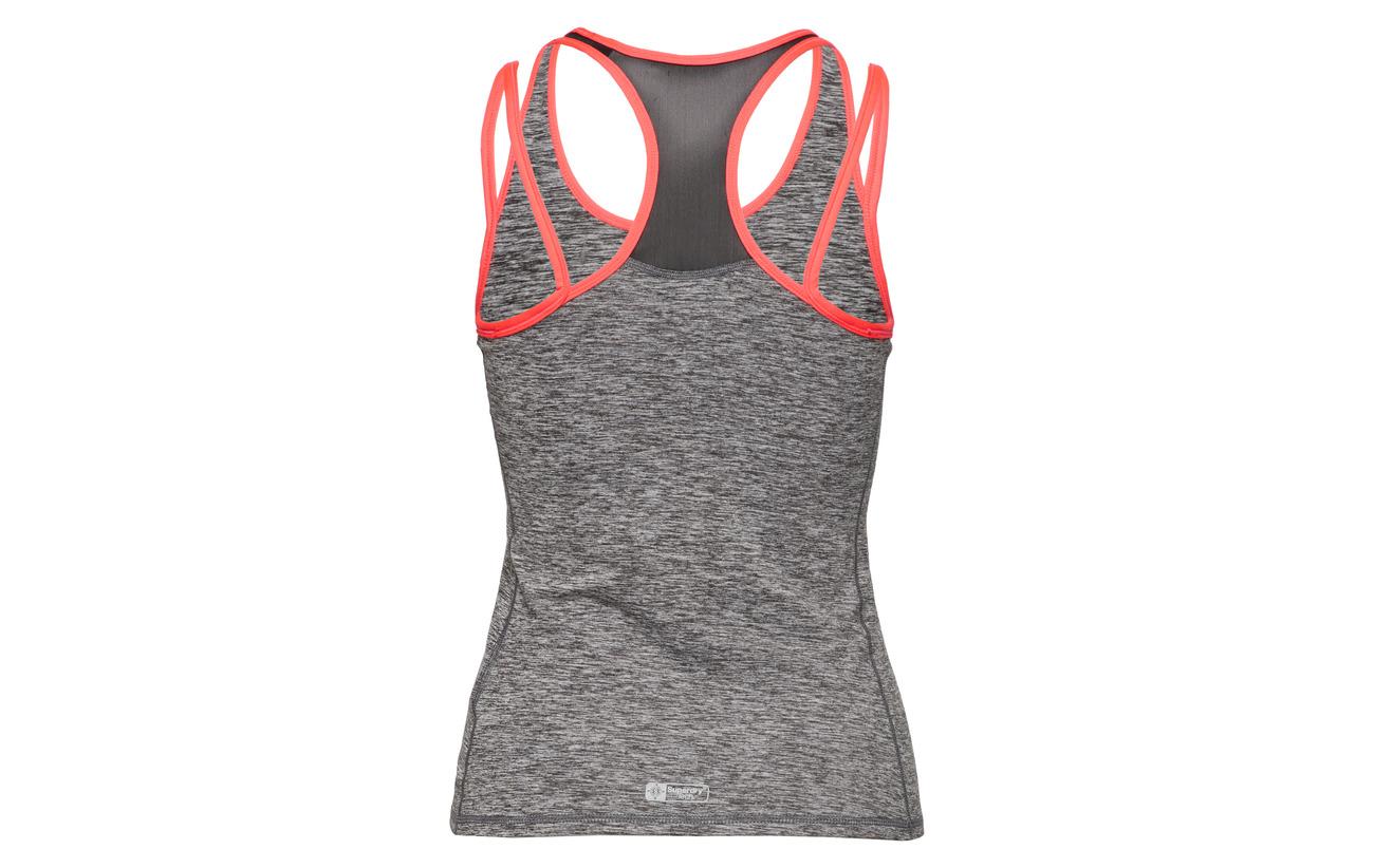 8 Strap Charcoal Polyester Duo Équipement Elastane Superdry Vest Grit Gym 92 qzSfTxwAn