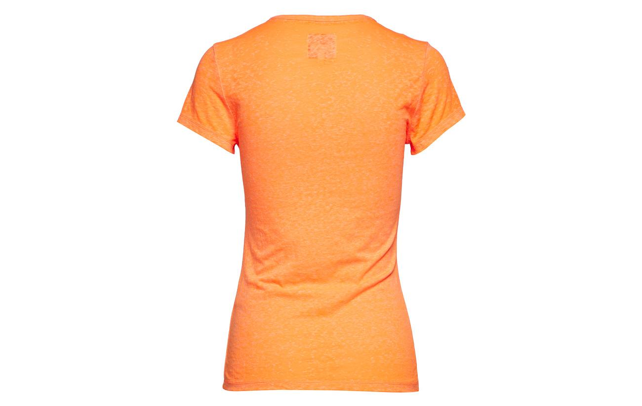 Snowy Orange Tee 9 Coton Coral 60 Label Burnout 31 Fluro Équipement Viscose Polyester Superdry nISBqRWS