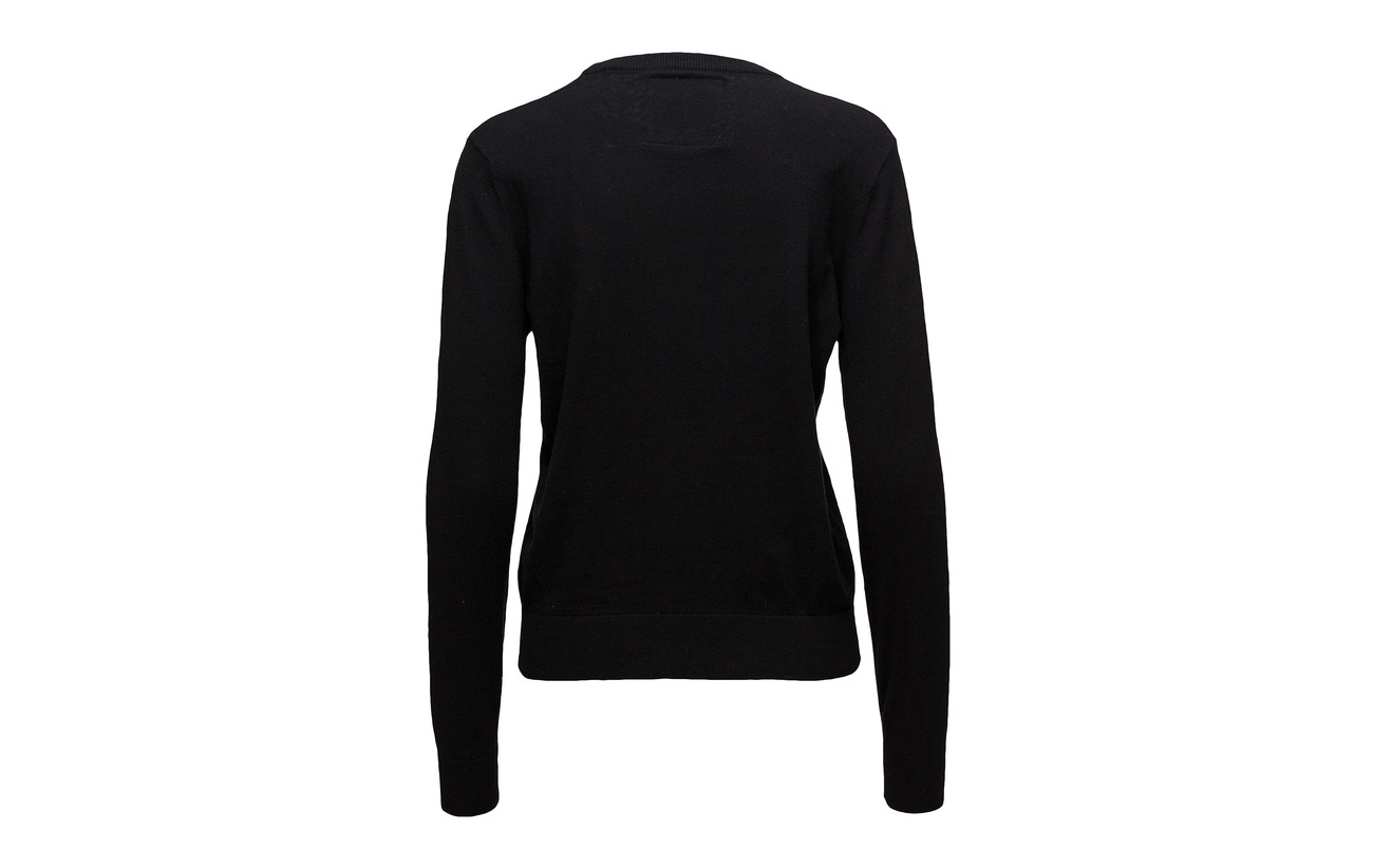 Black Coton 80 Laine Équipement Superdry Gemstone Knit 20 AwqEE1