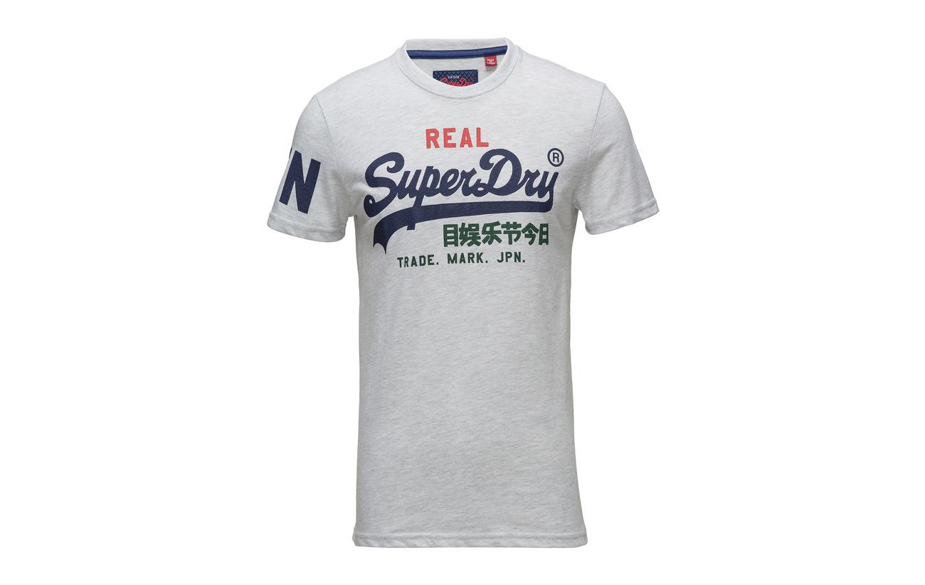 Vintage Tri Superdry Logo Marl Techno Navy Tee q6waTSaZB