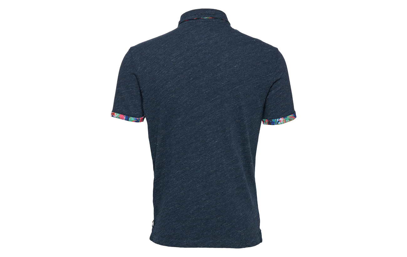 Pocket Polo Jersey Aop Pier Grindle Blue Superdry q71CwER