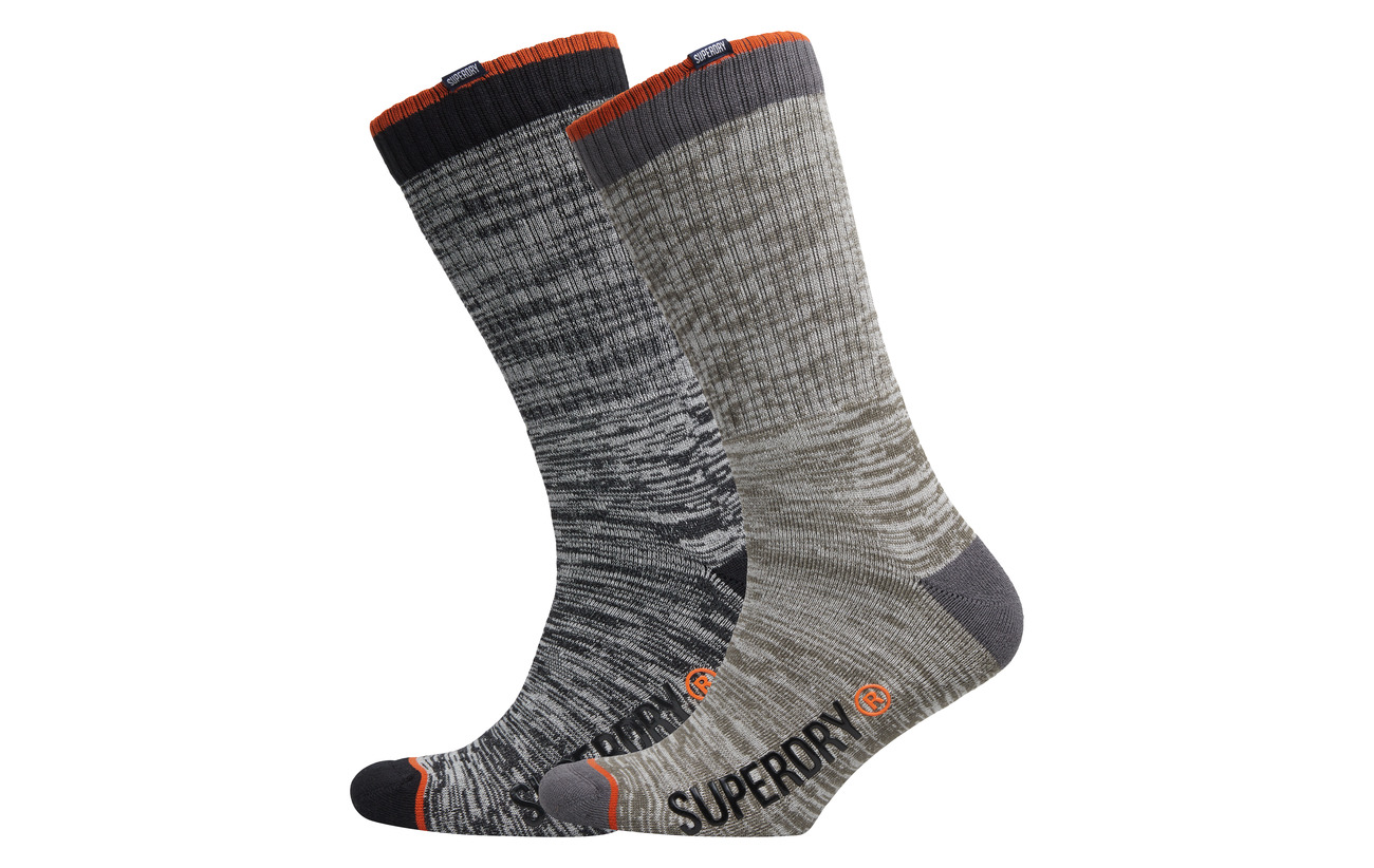 Slub Sock Jet Black Superdry Slub oatmeal Pack Double Stream BZaxqR