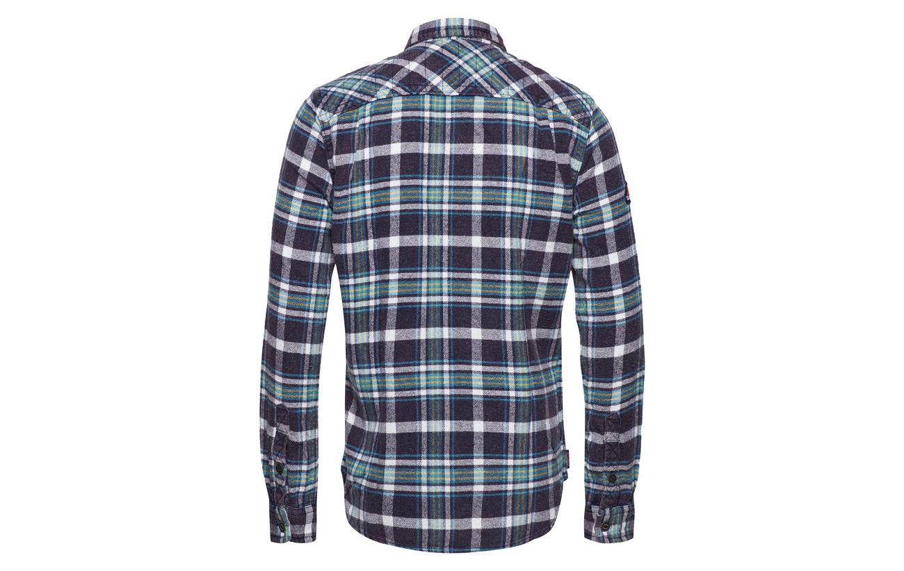 Milled Shirt Navy Born Merchant Superdry Check Air q8fxwnC