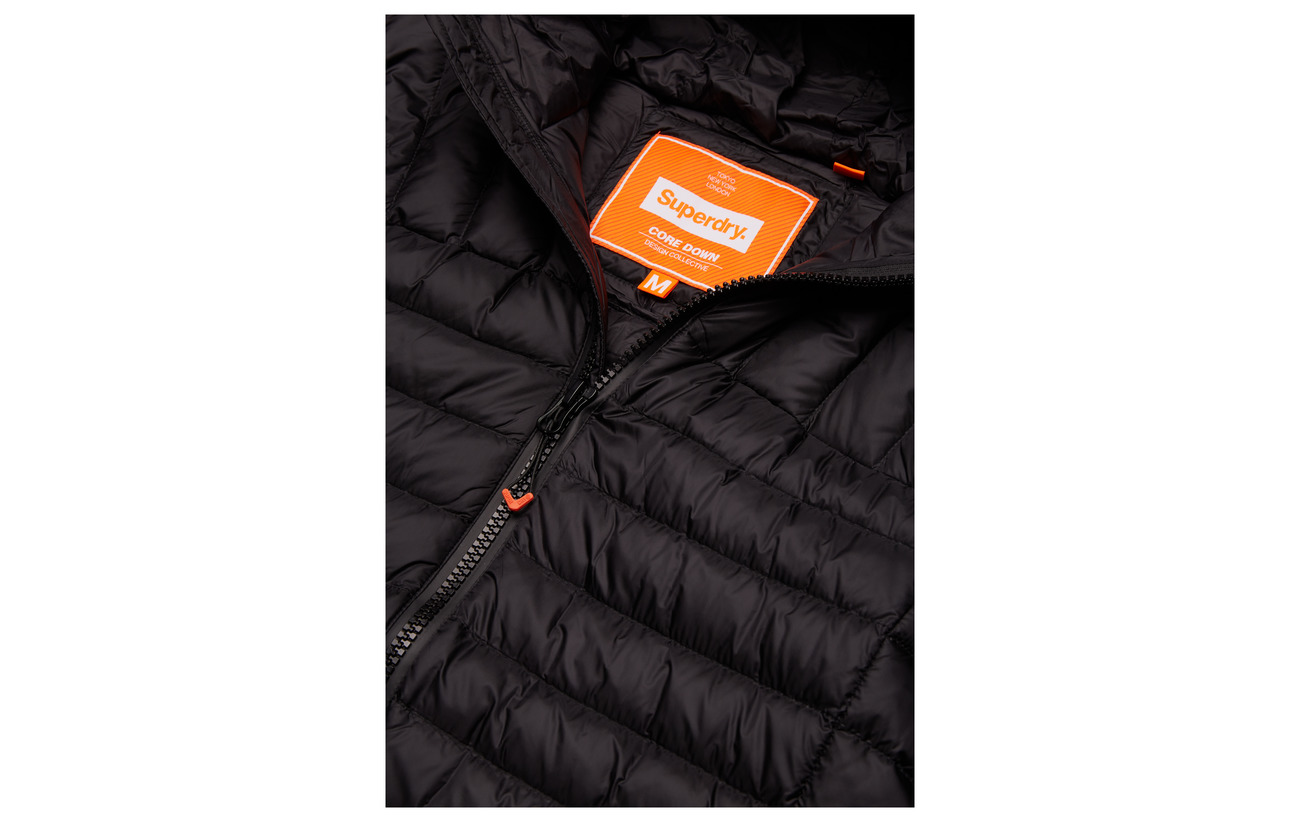 Superdry Core Jacket Navy Down Hooded zq0wrza