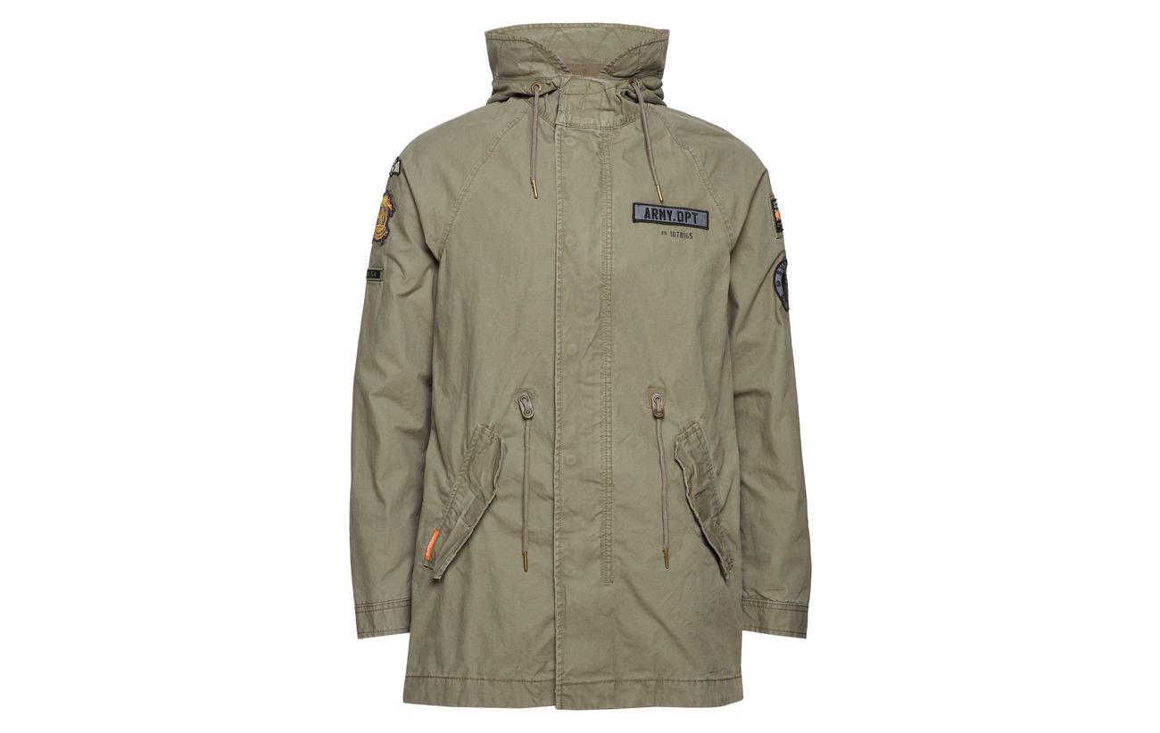 Aged Parka Patched Aviator Olive Rookie Superdry tI1xaS