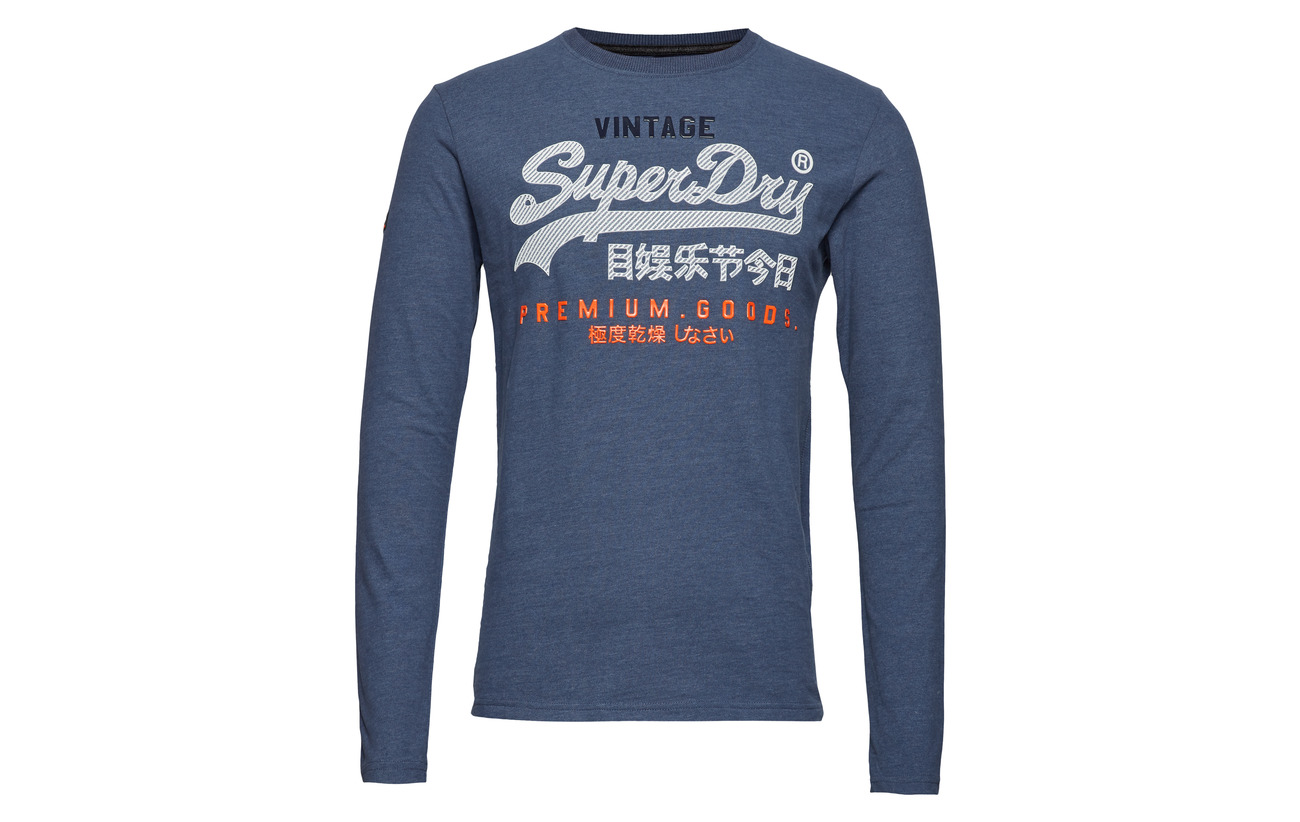 Blue Superdry Infill Pacific s Heather Tee Premium Goods L ffBRgUq