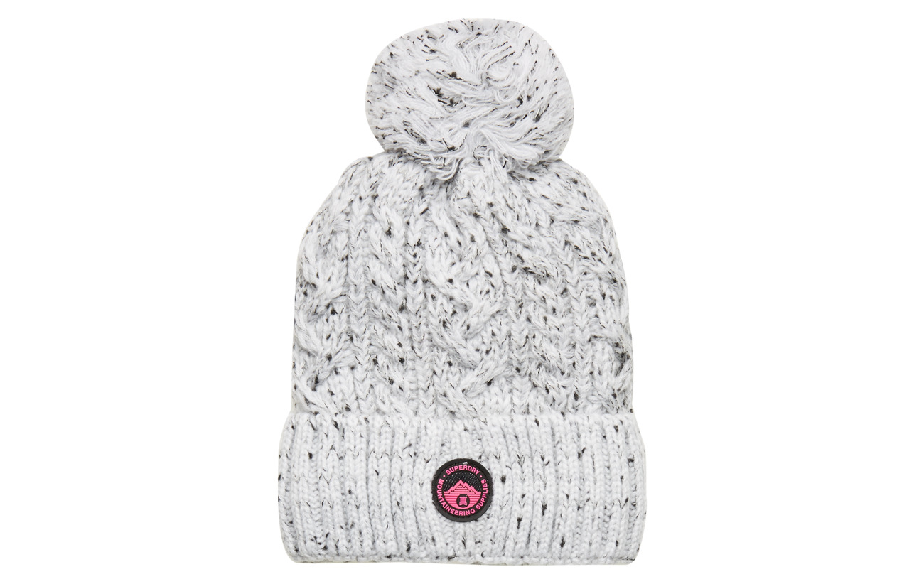 Superdry GRACIE CABLE BEANIE - ICE GREY