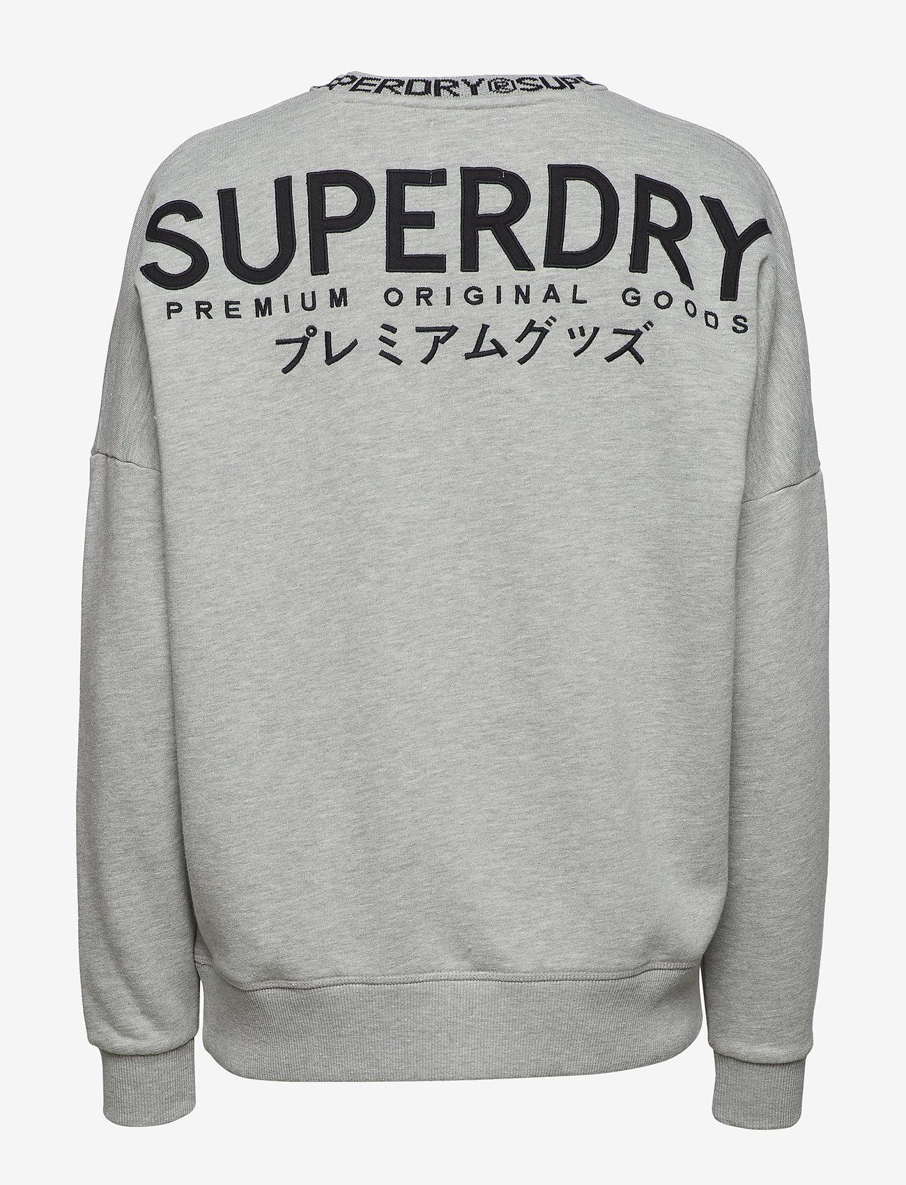 Superdry KURA CREW - Swetry SHELL MID GREY MARL - Kobiety Odzież.