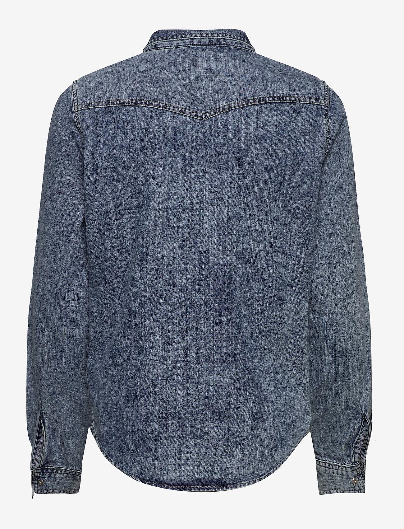 Superdry - WESTERN DENIM SHIRT - jeansblouses - acid blue - 1