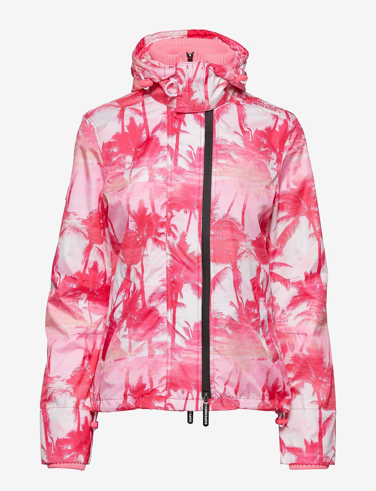 Superdry - BLACK EDITION WINDCHEATER - lichte jassen - pink pastel palm/silver/neon pink - 1