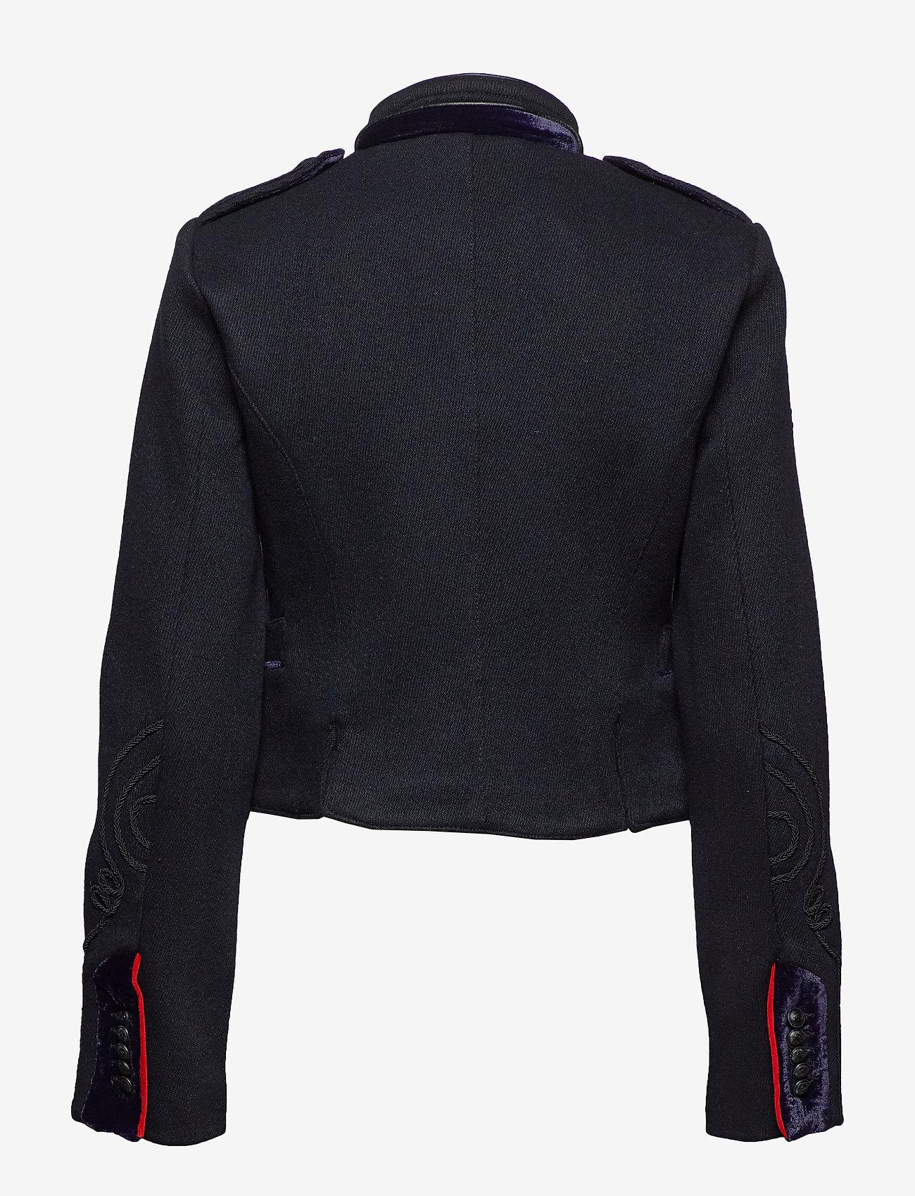 Superdry Cropped Duchess Wool Jkt - Vestes Et Manteaux Black