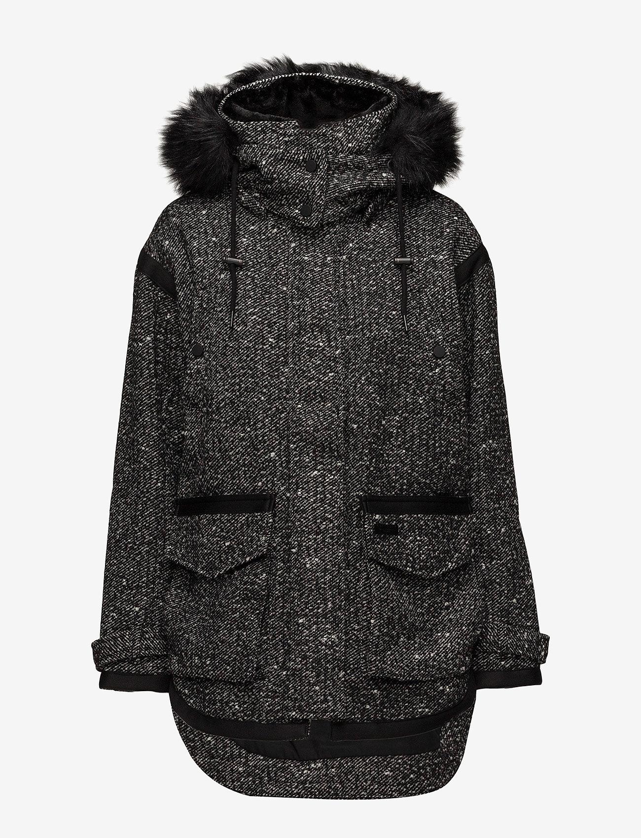 Superdry - FJORD OVOID PARKA - parka coats - grey twill boucle - 1