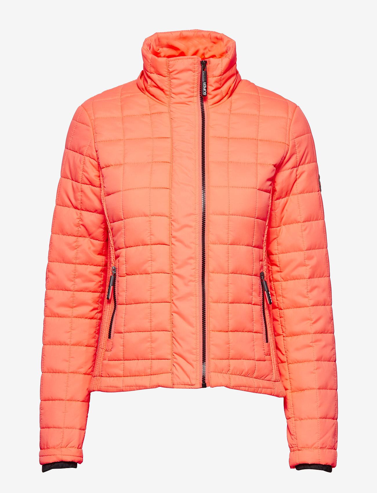 Hooded Box Quilt Fuji Jacket (Acid Coral) (64.98 €) - Superdry VLuCB