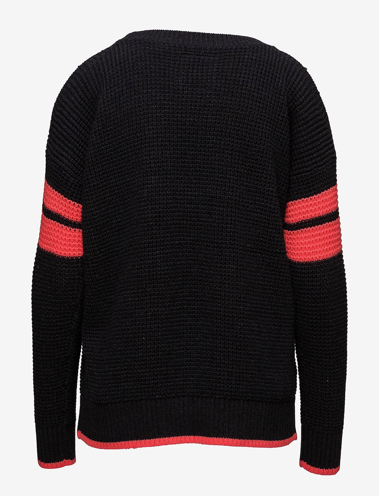 Superdry Varsity Cold Shoulder Knit - Pièces En Mailles
