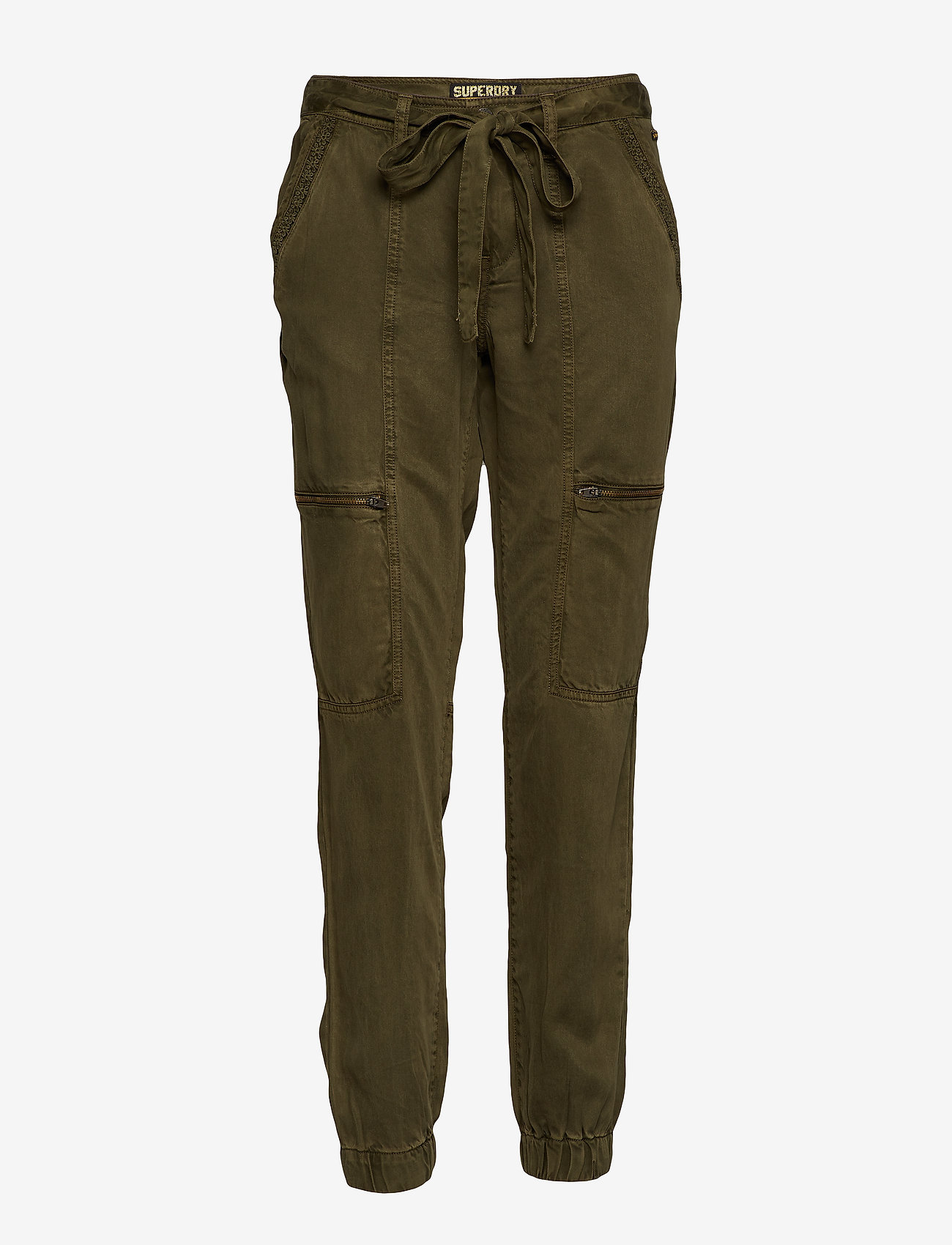 Superdry - LACE ROOKIE PANT - spodnie dresowe - laurel khaki - 0