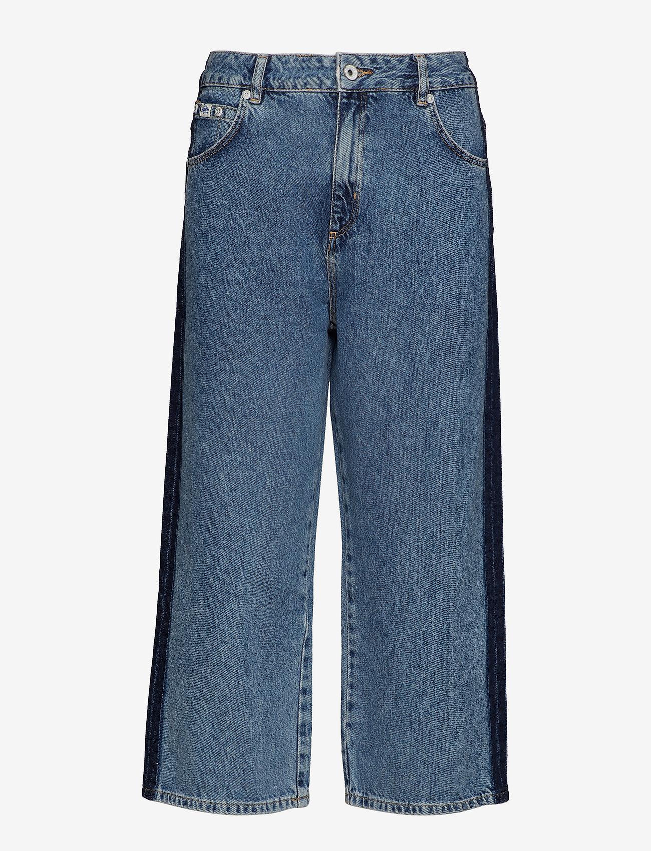 Superdry - PHOEBE WIDE LEG - broeken met wijde pijpen - granite blue - 0