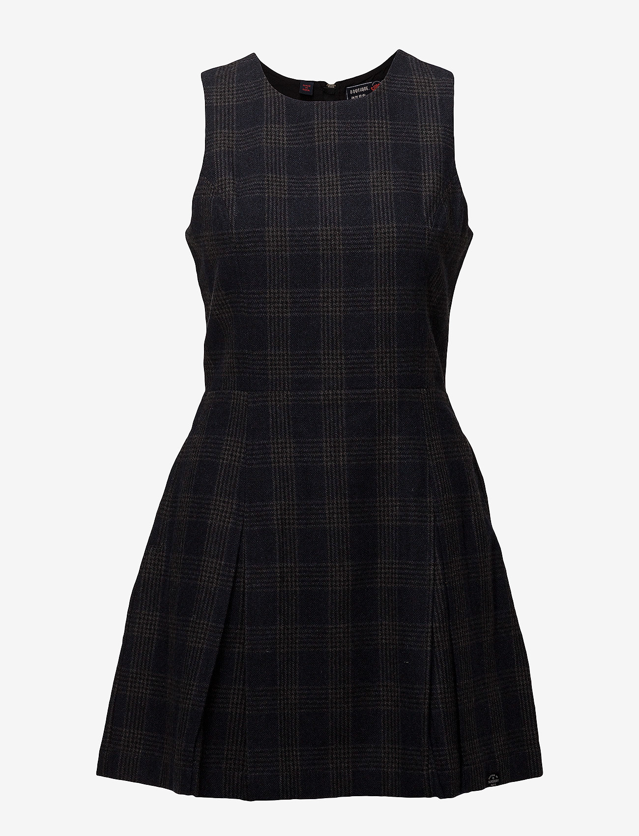 Superdry GEORGIE SHIFT DRESS - Sukienki NAVY CHARCOAL CHECK - Kobiety Odzież.