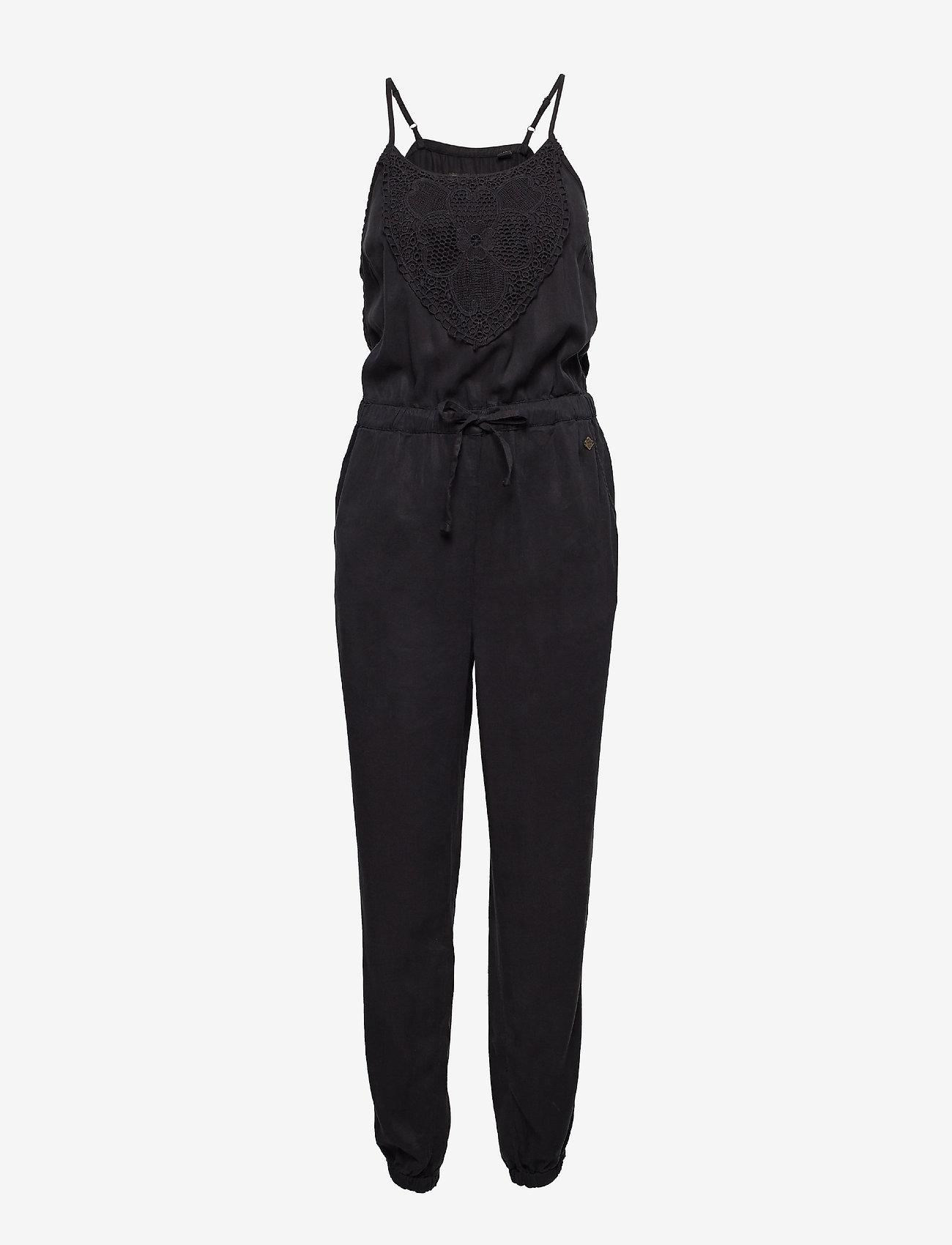 Superdry - REAH BOHO JUMPSUIT - jumpsuits - washed black - 0