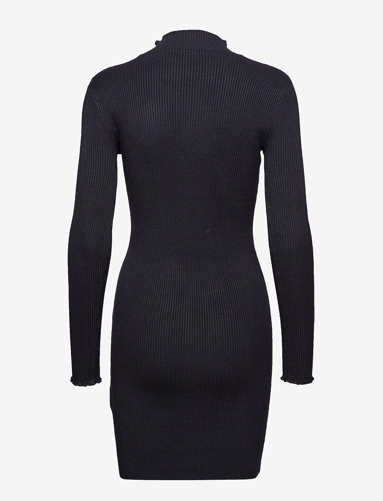 Superdry Liana Ribbed Knit Dress - Robes Black