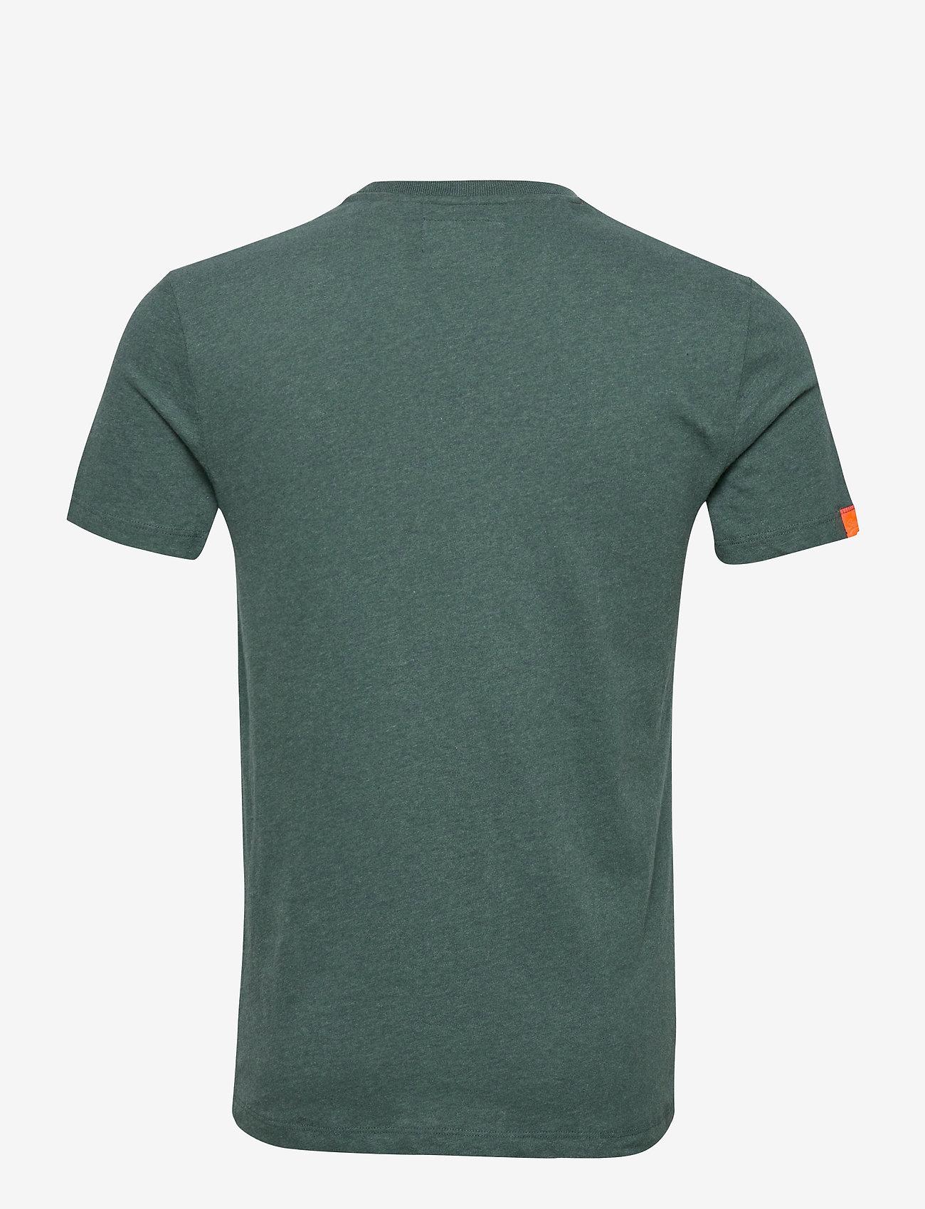 Superdry OL VINTAGE EMBROIDERY TEE - T-skjorter BUCK GREEN MARL - Menn Klær