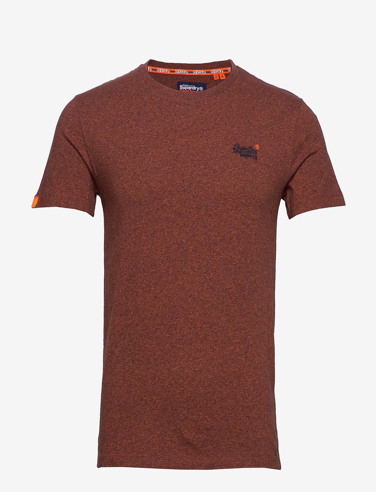 Superdry OL VINTAGE EMB CREW - T-shirts DESERT ORANGE GRIT hdjbdO5E