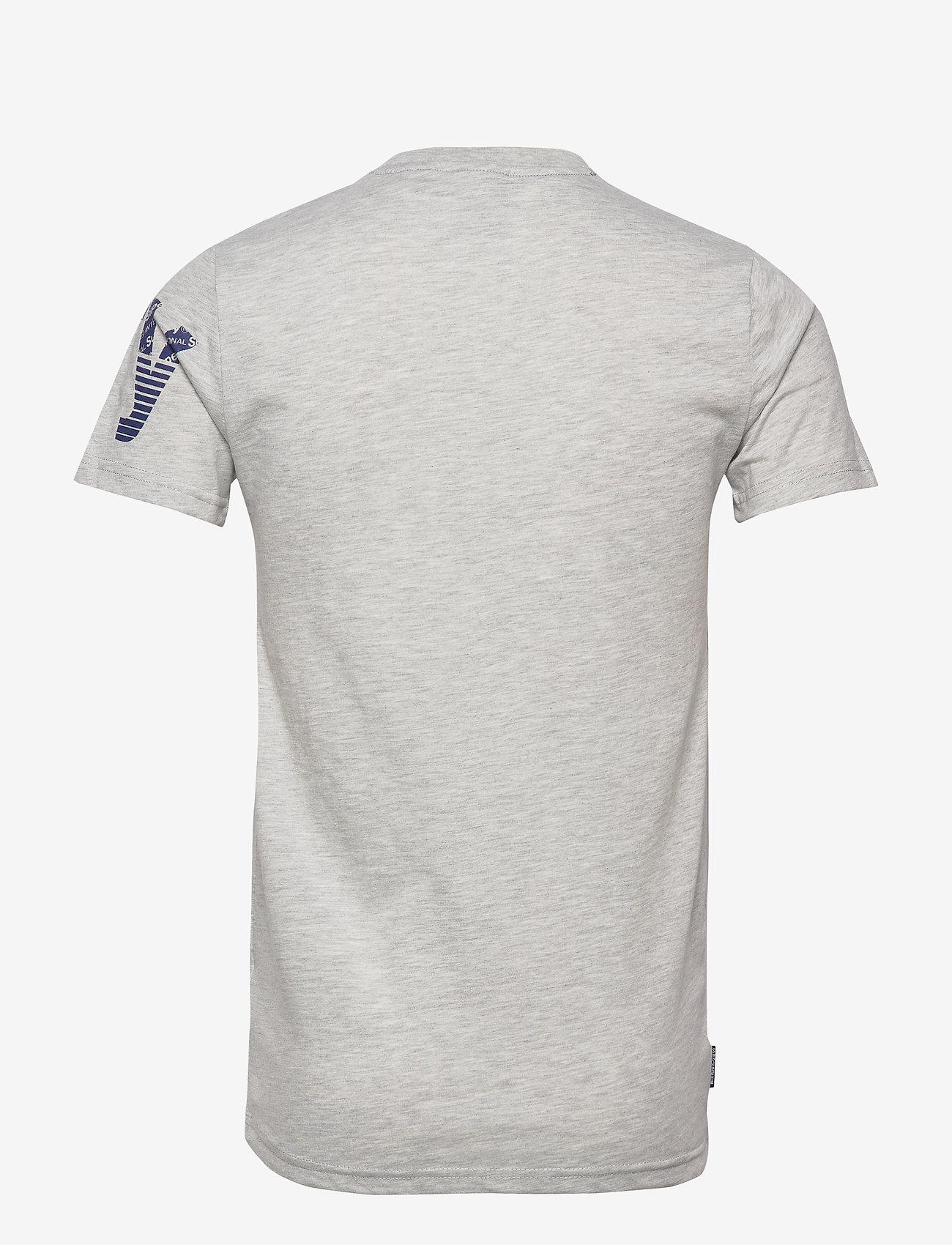 Superdry - CORE SPLIT LOGO TEE - kortermede t-skjorter - collective light marl