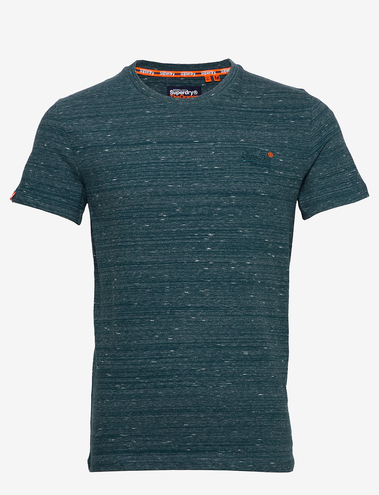 Superdry Ol Vintage Embroidery Tee - T-shirts DEEP TEAL SPACE DYE Q16R5MQH