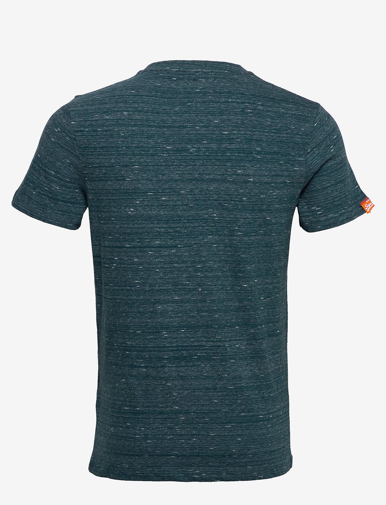 Superdry - Ol Vintage Embroidery Tee - perus t-paidat - deep teal space dye