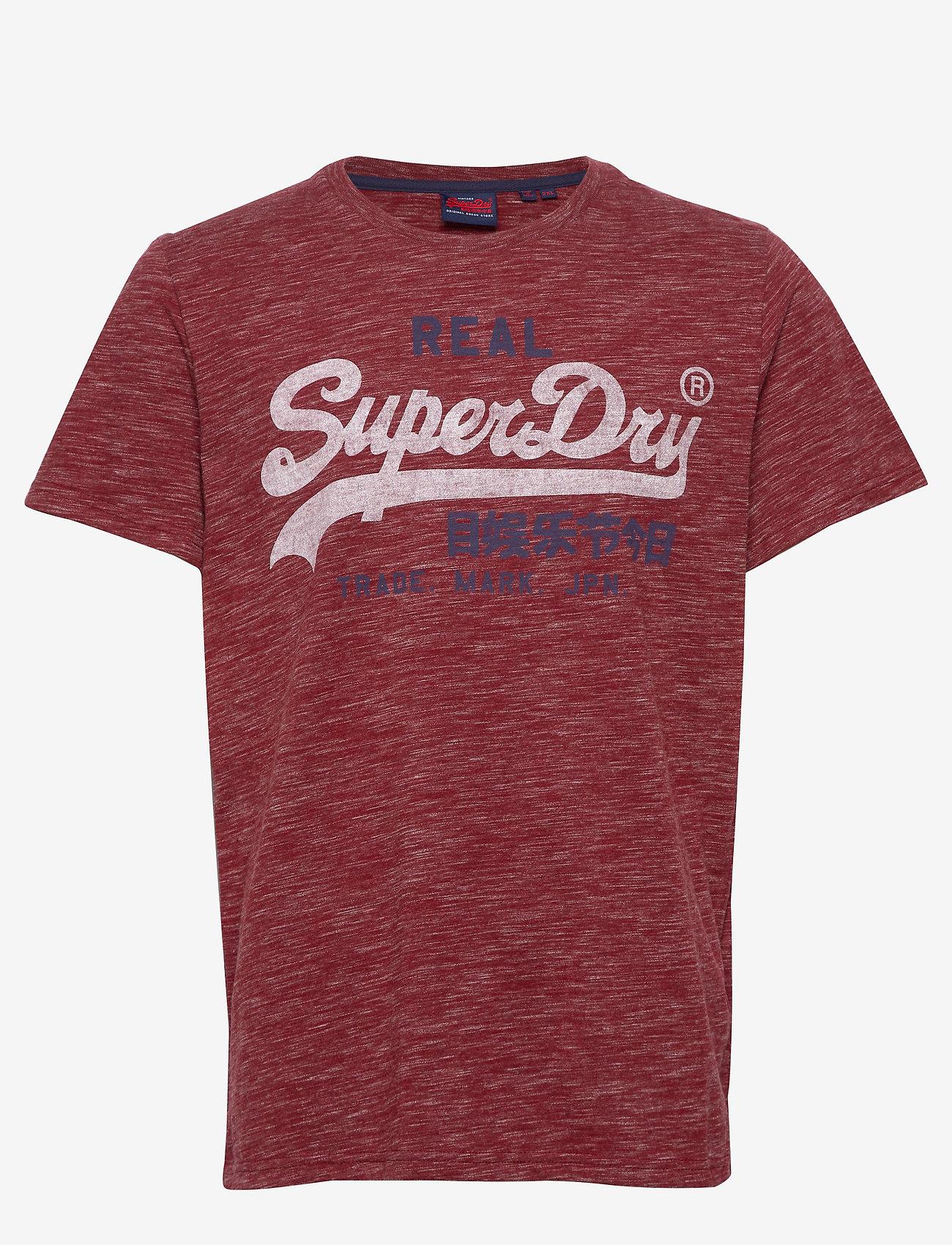 Superdry - Vl Premium Goods Tee - lyhythihaiset - brick red space dye