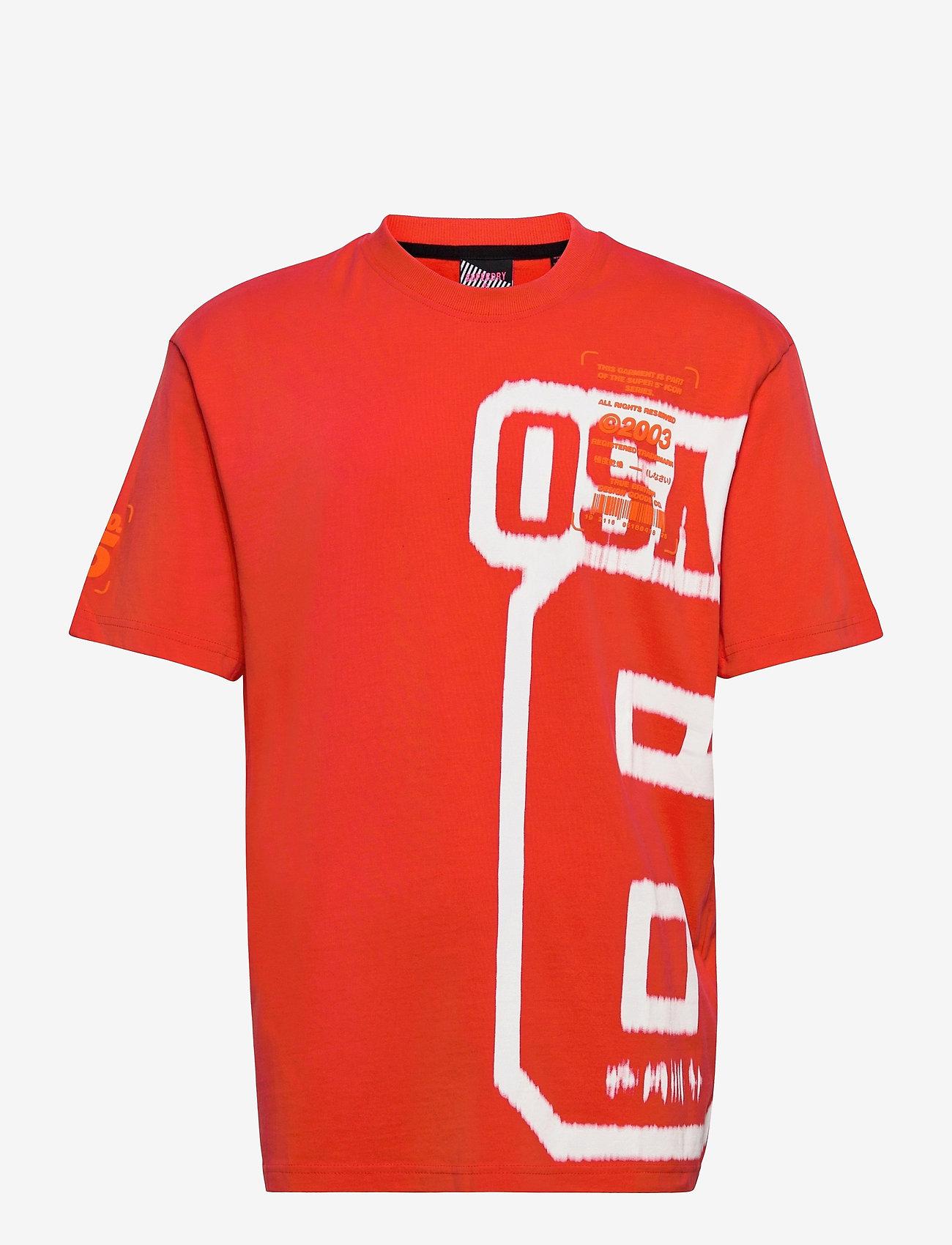 Superdry - SUPER 5 DECONSTRUCT TEE - t-shirts à manches courtes - havana orange - 0