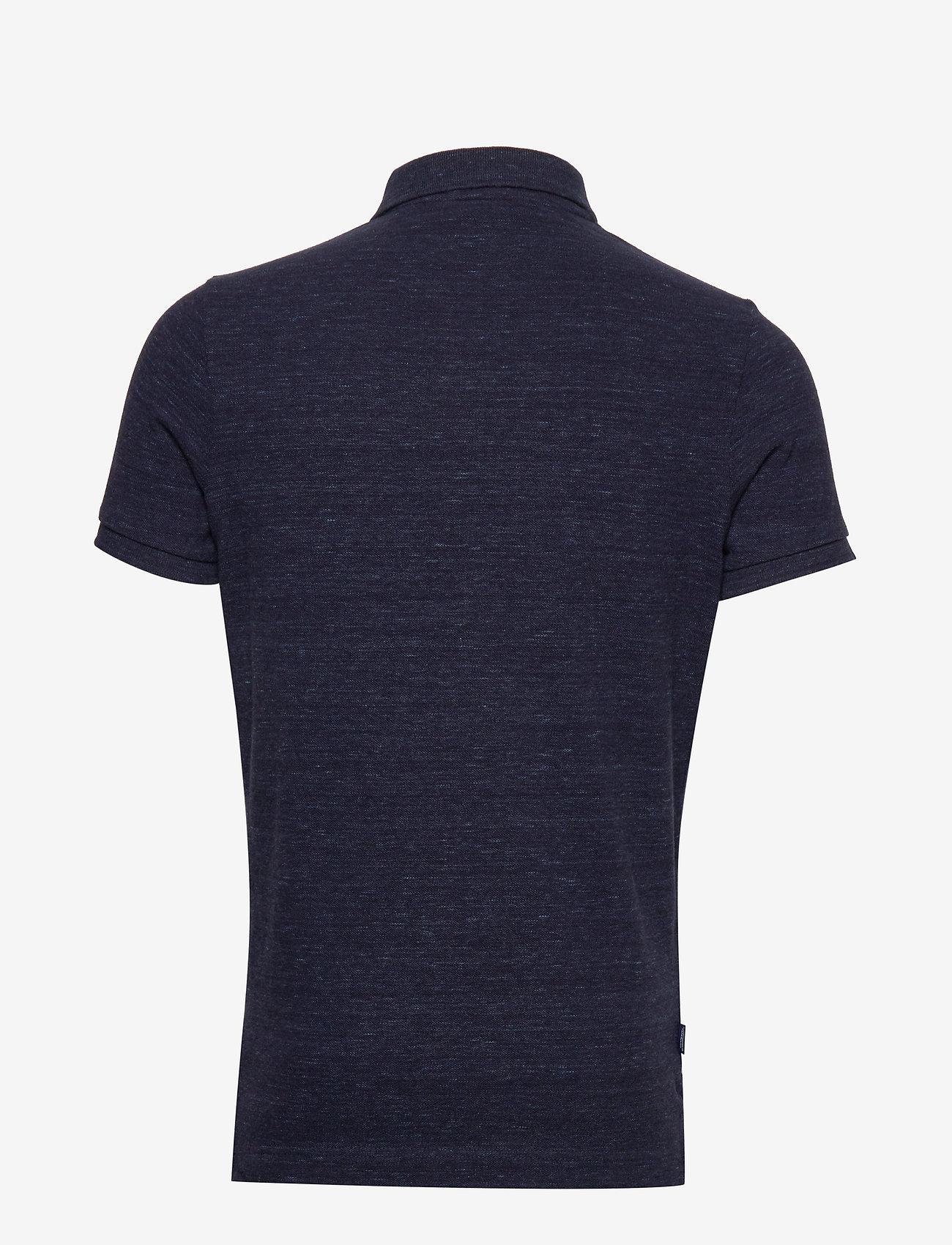 Superdry CLASSIC PIQUE S/S POLO - Poloskjorter MONTANA BLUE GRIT - Menn Klær