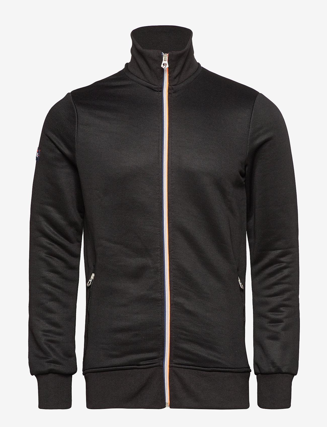 Superdry - ORANGE LABEL TRI TRACK TOP - track jackets - black - 0
