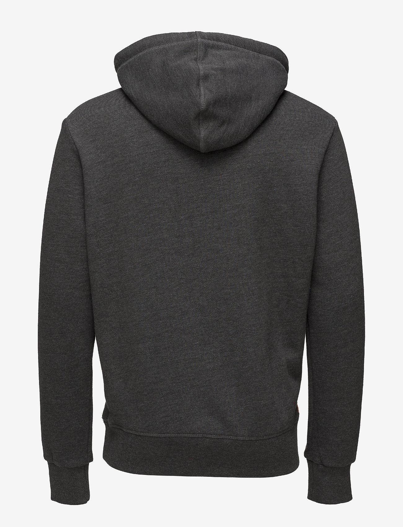 Superdry SWEAT SHIRT SHOP DUO HOOD - Sweatshirts WINTER CHARCOAL MARL - Menn Klær
