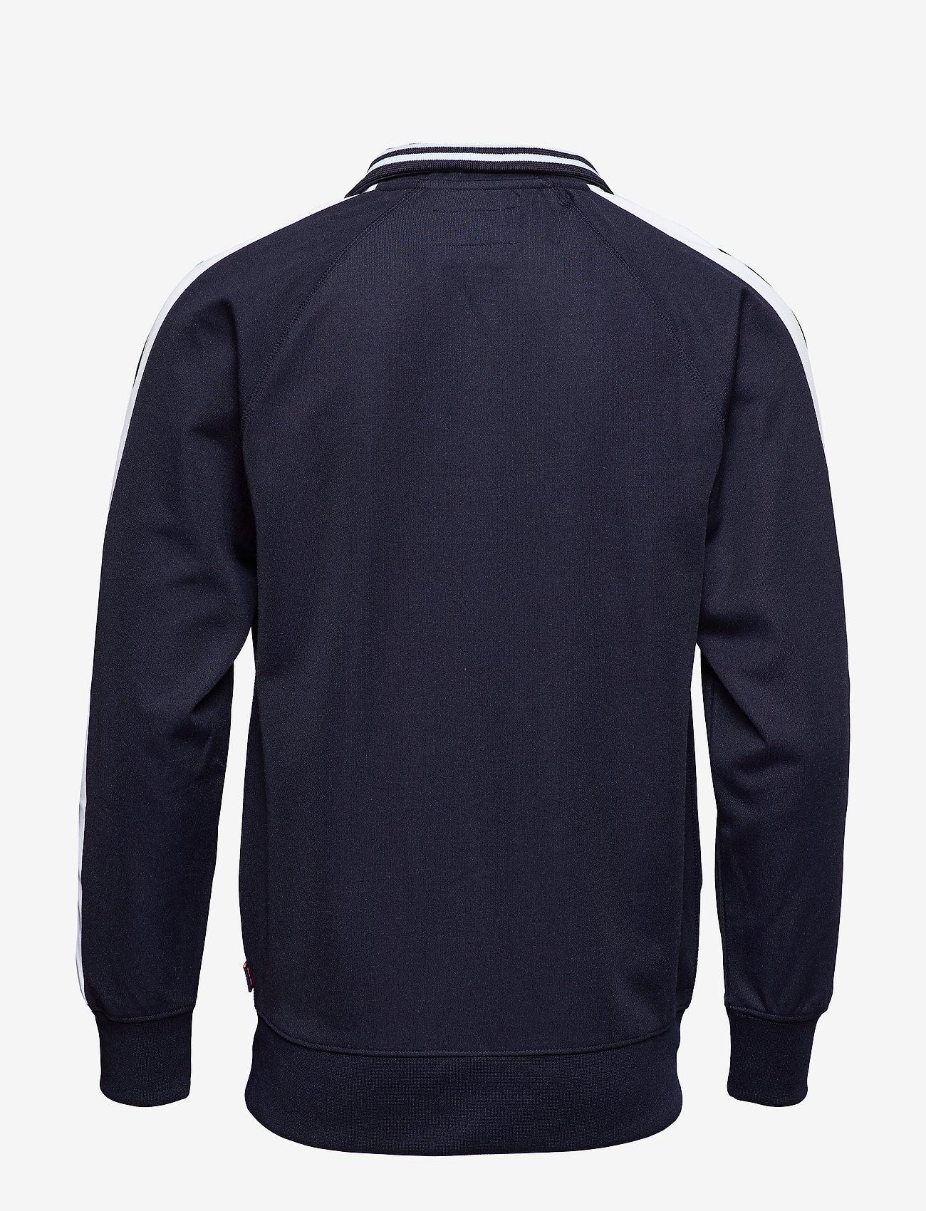 Superdry - LINEMAN SLIM FIT TRACK TOP - track jackets - track navy/optic - 1