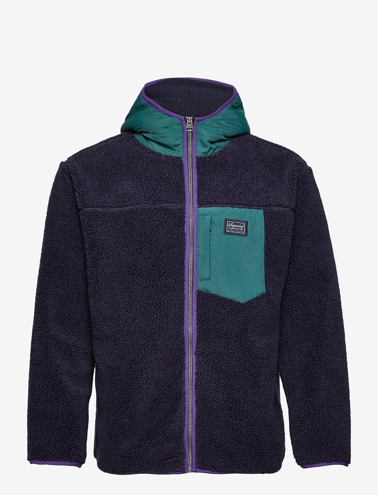 Superdry - SHERPA ZIP THRU HOOD - basic-sweatshirts - nautical navy - 0