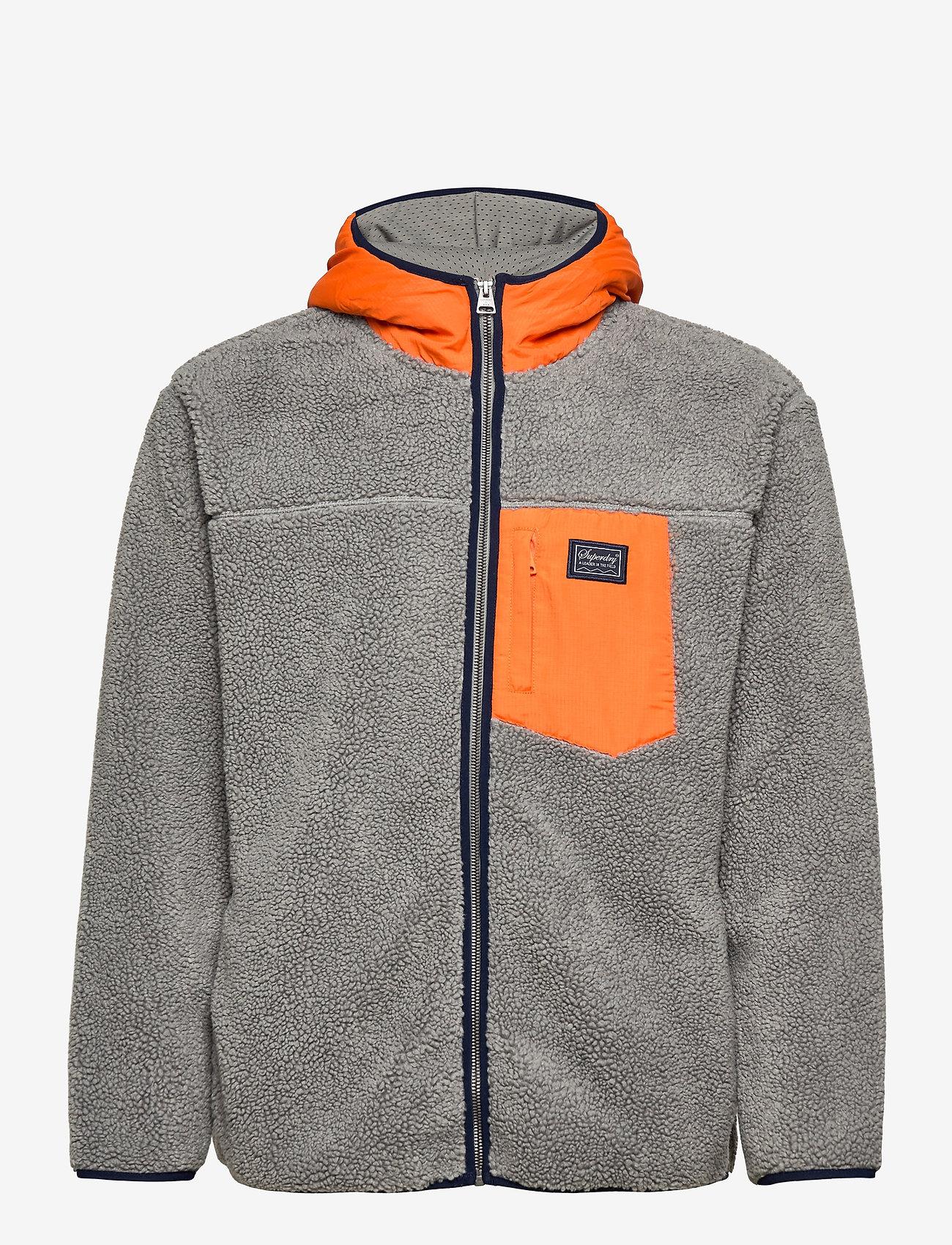 Superdry - SHERPA ZIP THRU HOOD - basic-sweatshirts - slate iron - 0