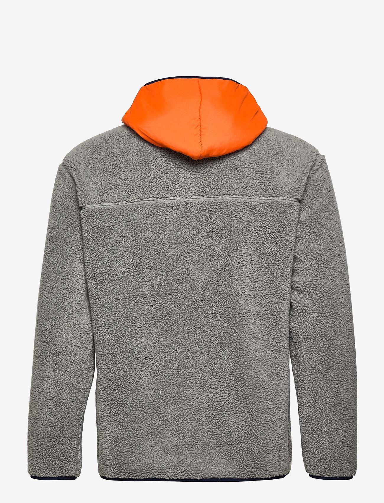 Superdry - SHERPA ZIP THRU HOOD - basic-sweatshirts - slate iron - 1