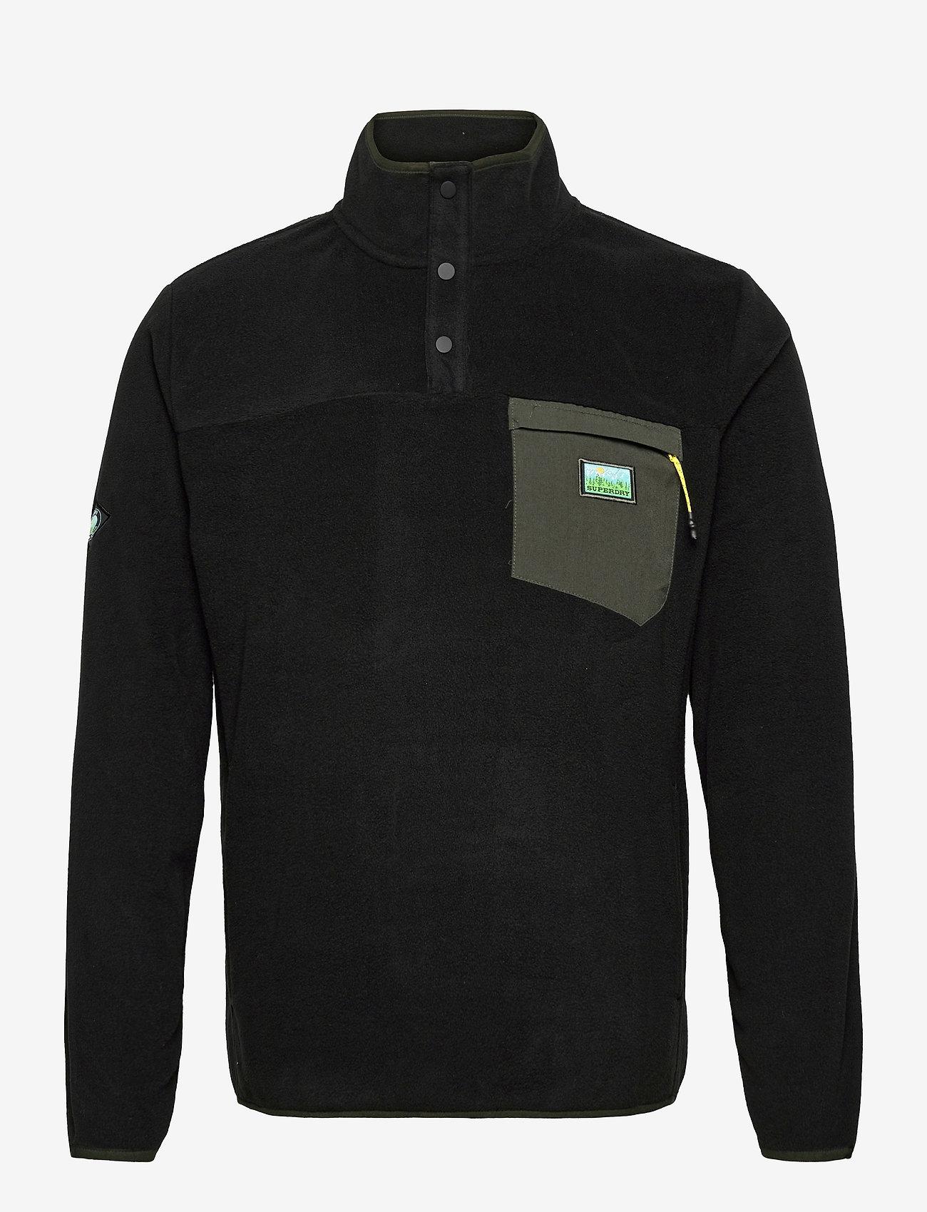 Superdry - B TRAIL POLAR FLEECE POP OVER - basic-sweatshirts - black - 0