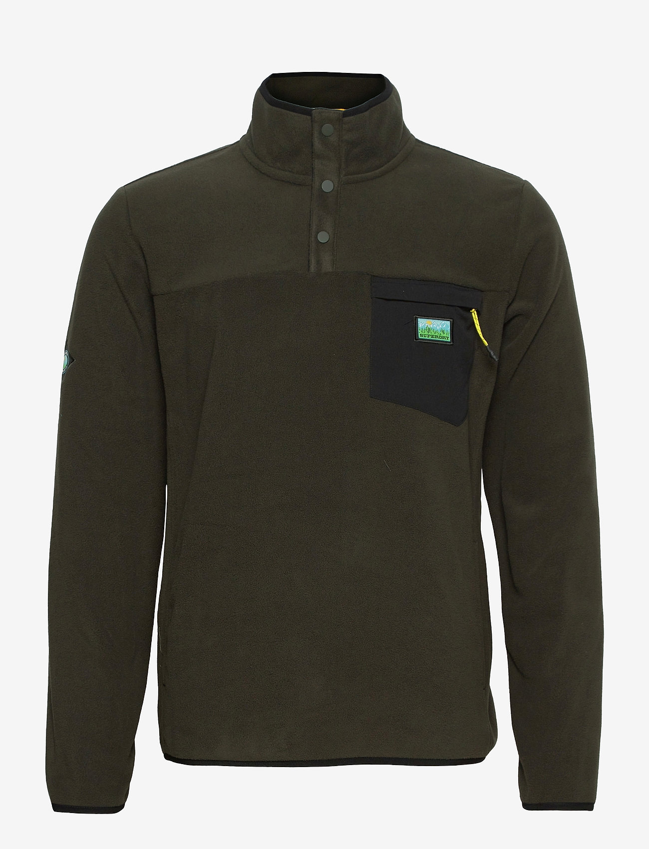 Superdry - B TRAIL POLAR FLEECE POP OVER - basic-sweatshirts - surplus goods olive - 0