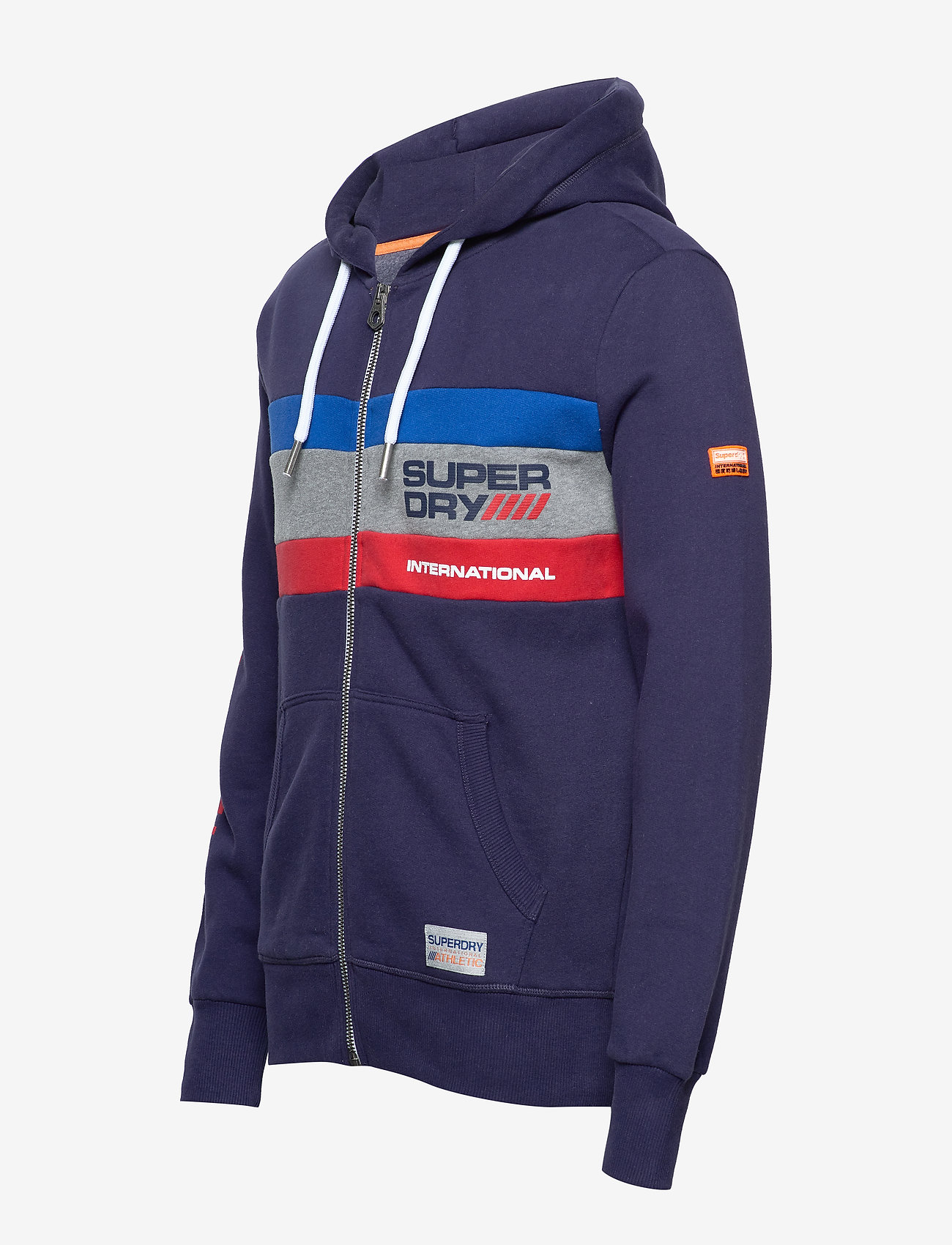 Superdry Trophy Tri Colour Ziphood - Sweatshirts Dark Navy