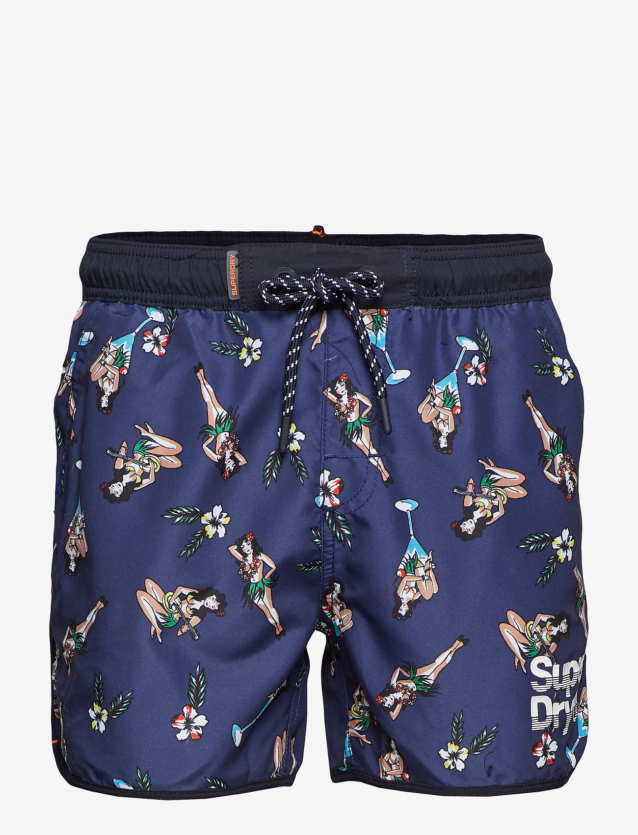 Superdry - ECHO RACER SWIM SHORT - badehosen - navy hula girls aop - 0