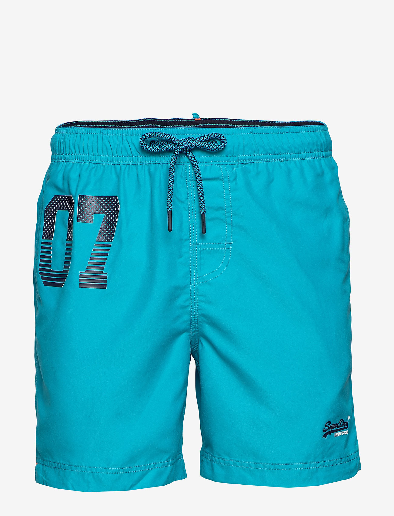 Superdry Mens Waterpolo Aqua Swim Shorts Turquoise in Size Small