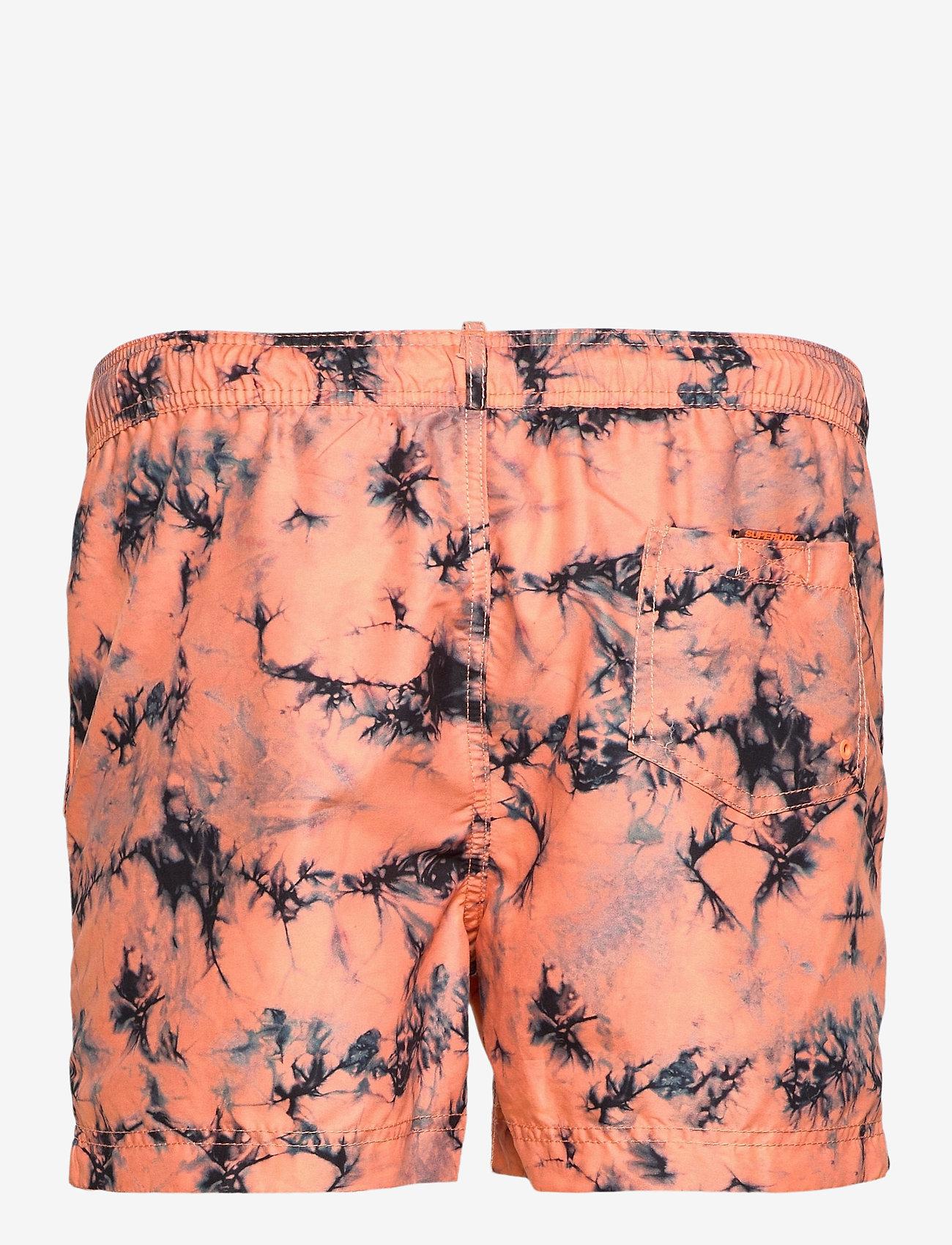 Superdry - TIE-DYE VOLLEY SWIM SHORT - shorts de bain - coral tie dye - 1