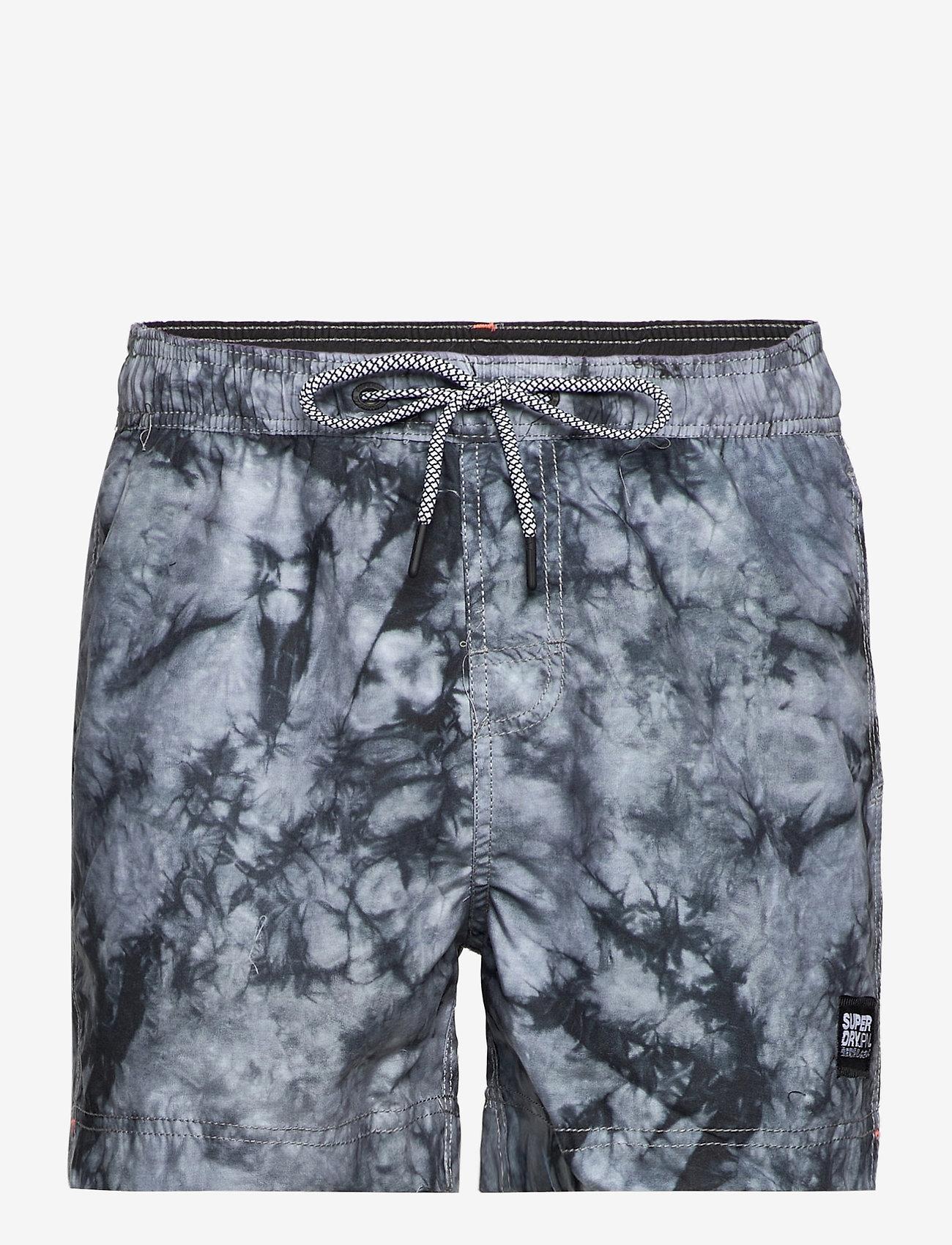 Superdry - TIE-DYE VOLLEY SWIM SHORT - shorts de bain - grey tie dye - 0