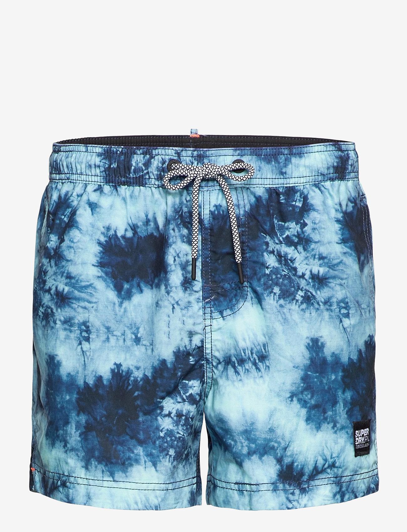 Superdry - TIE-DYE VOLLEY SWIM SHORT - shorts de bain - navy tie dye - 0